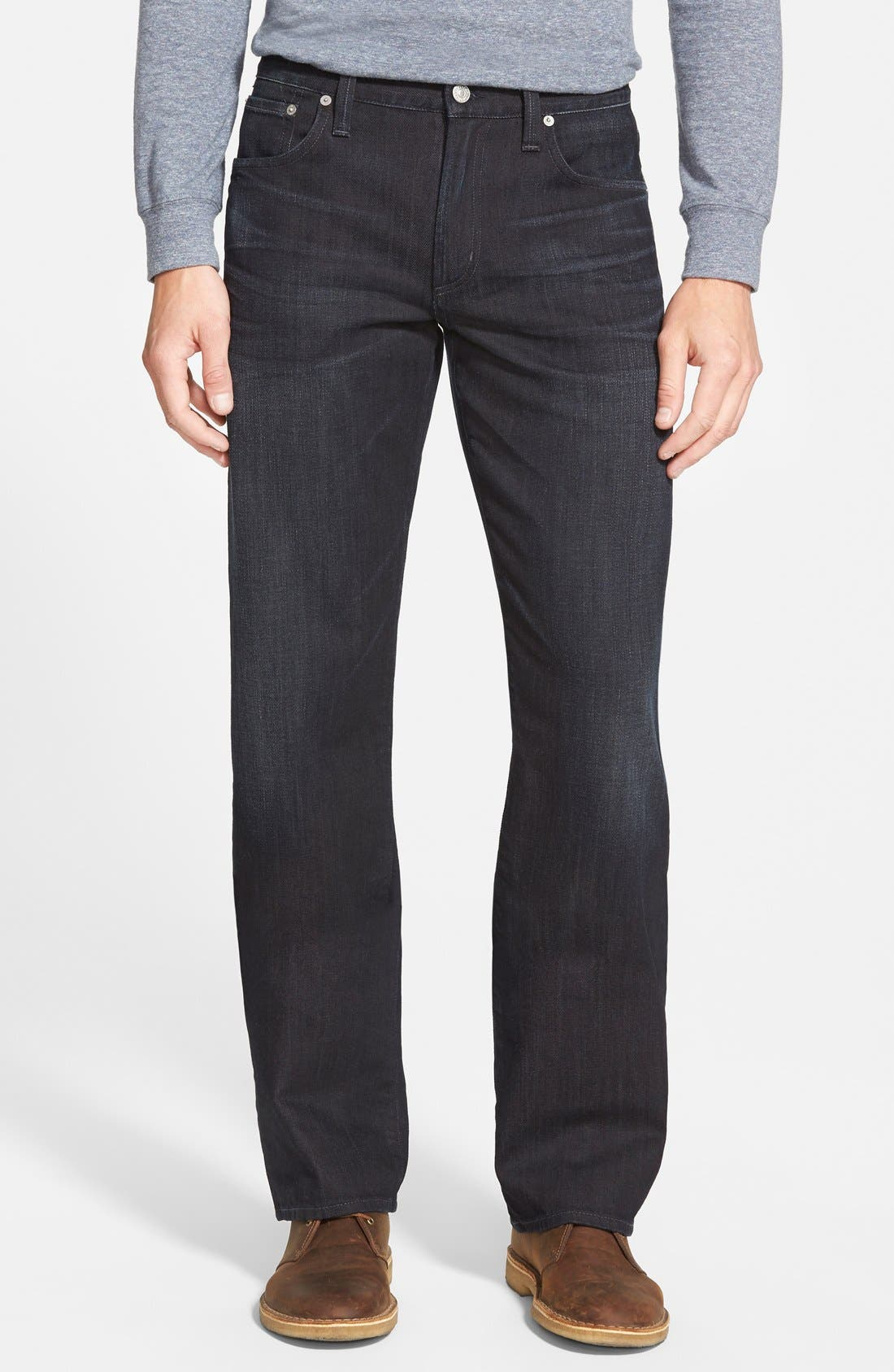 'Evans' Relaxed Fit Jeans,                             Main thumbnail 1, color,                             MACON