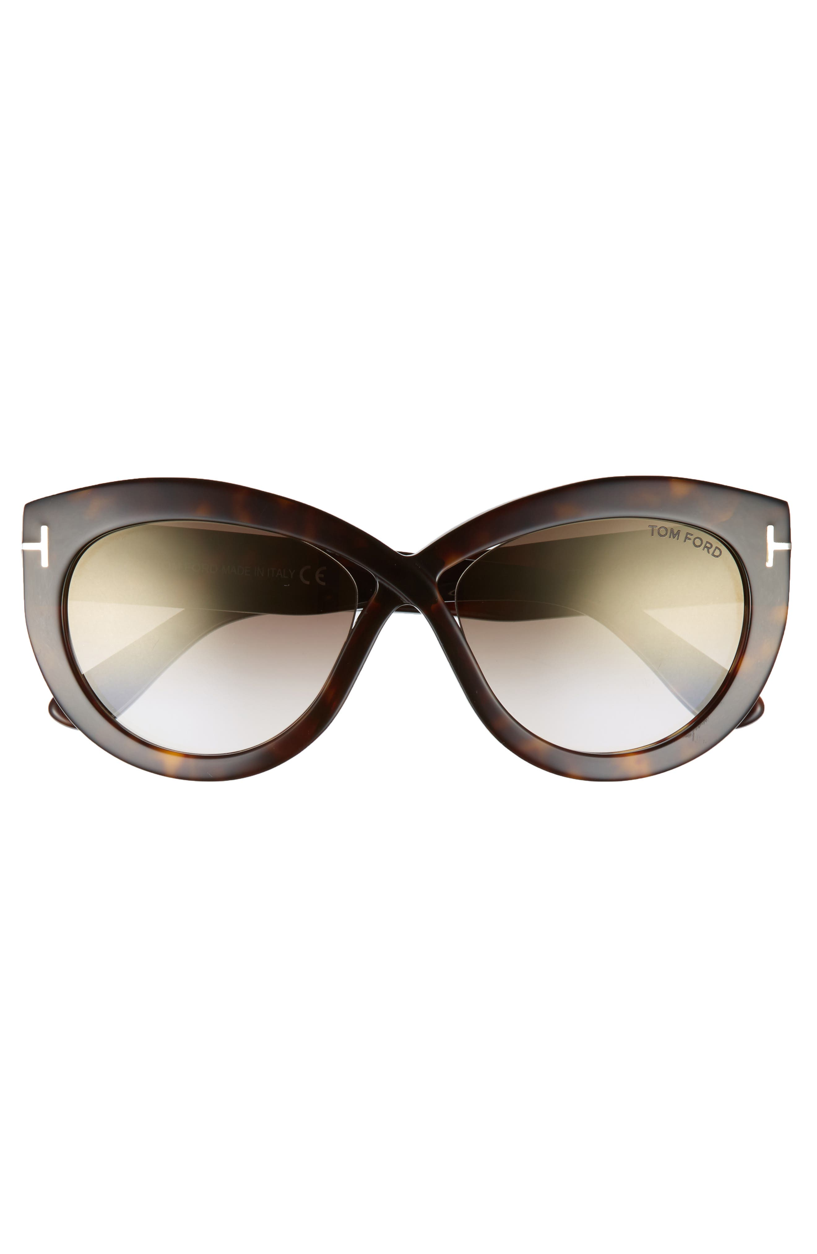 Diane 56mm Butterfly Sunglasses,                             Alternate thumbnail 3, color,                             010