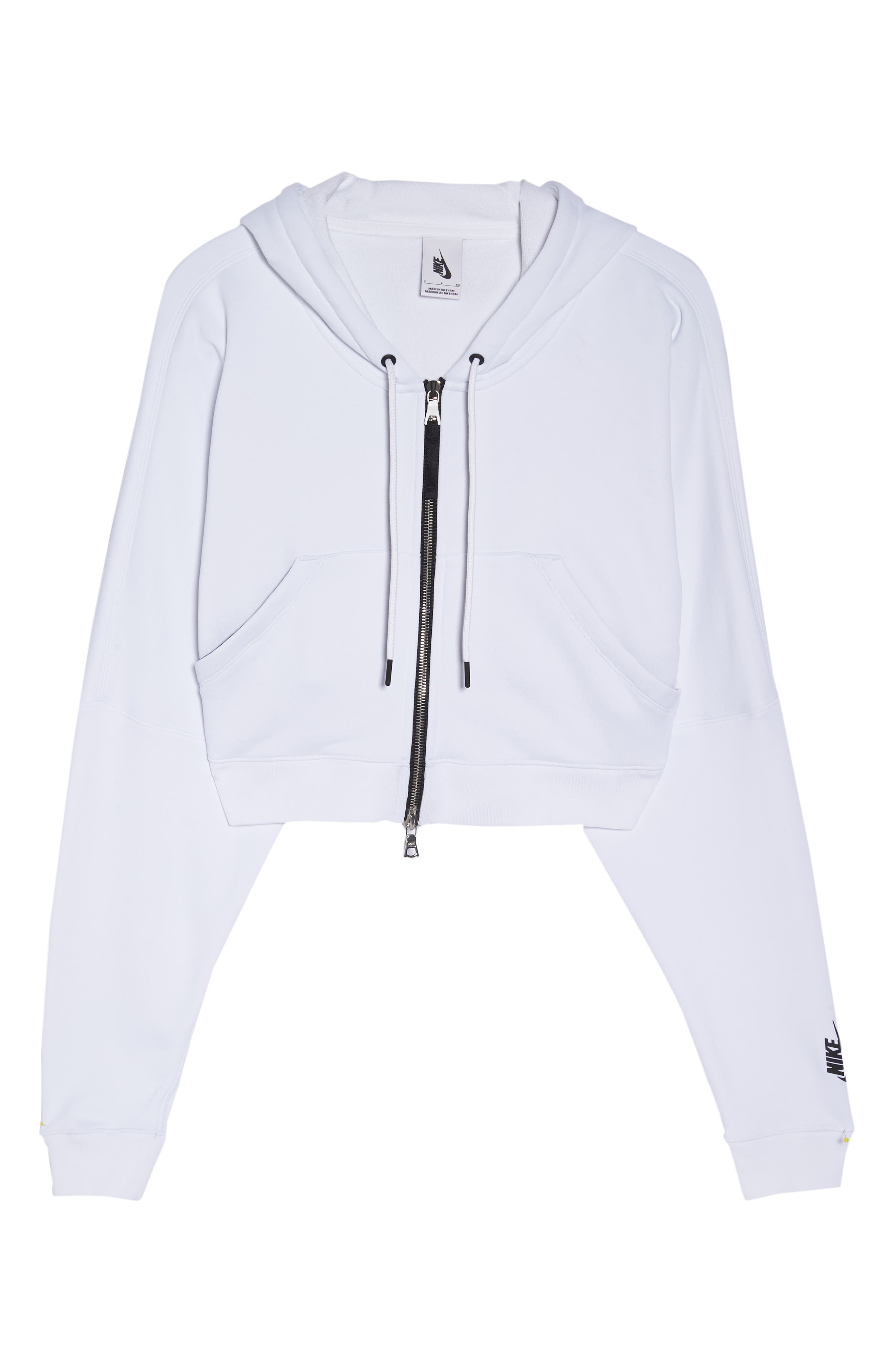 NikeLab Collection Terry Zip Hoodie,                             Alternate thumbnail 7, color,                             100