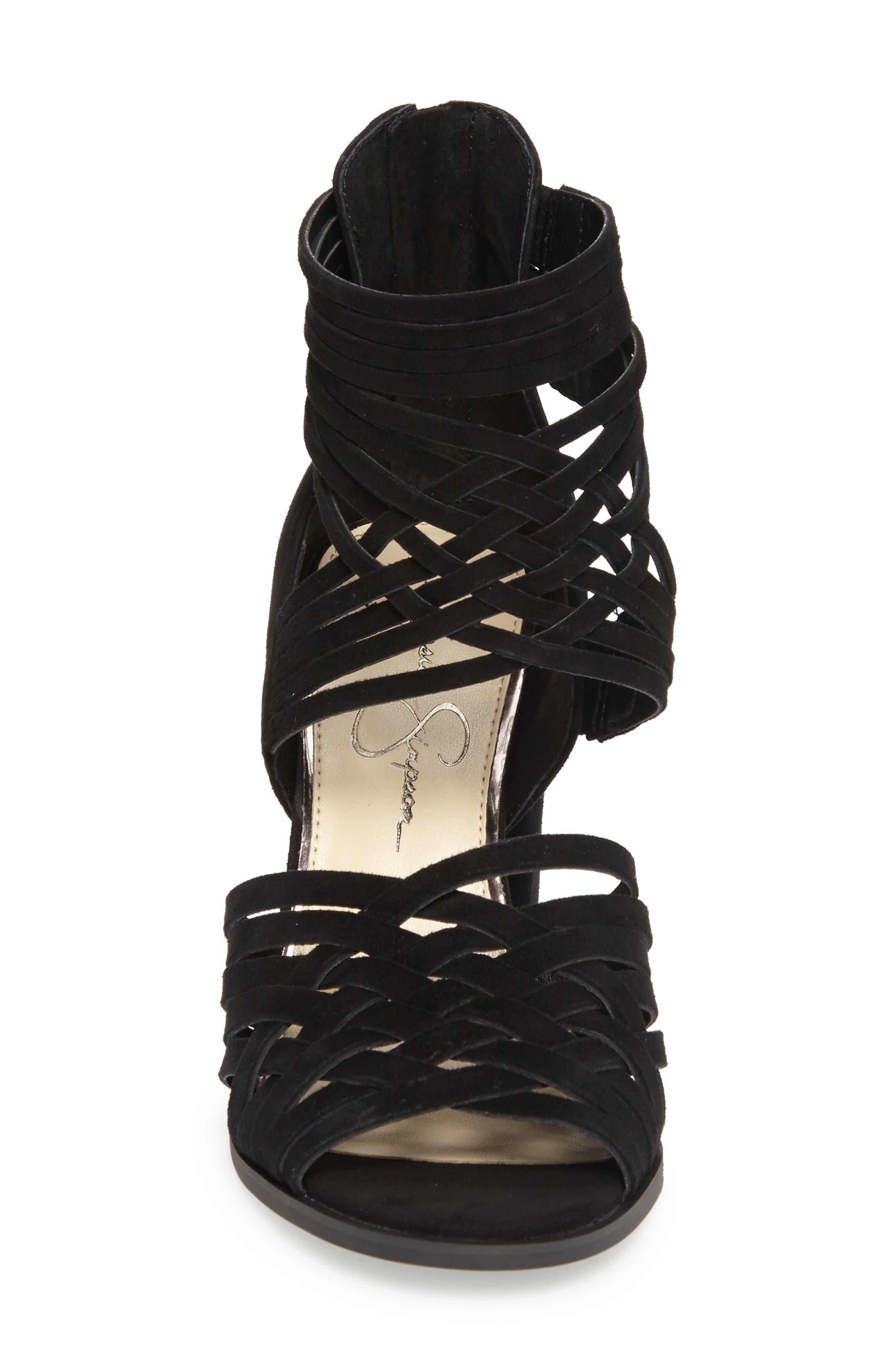 Reilynn Woven Sandal,                             Alternate thumbnail 3, color,                             001