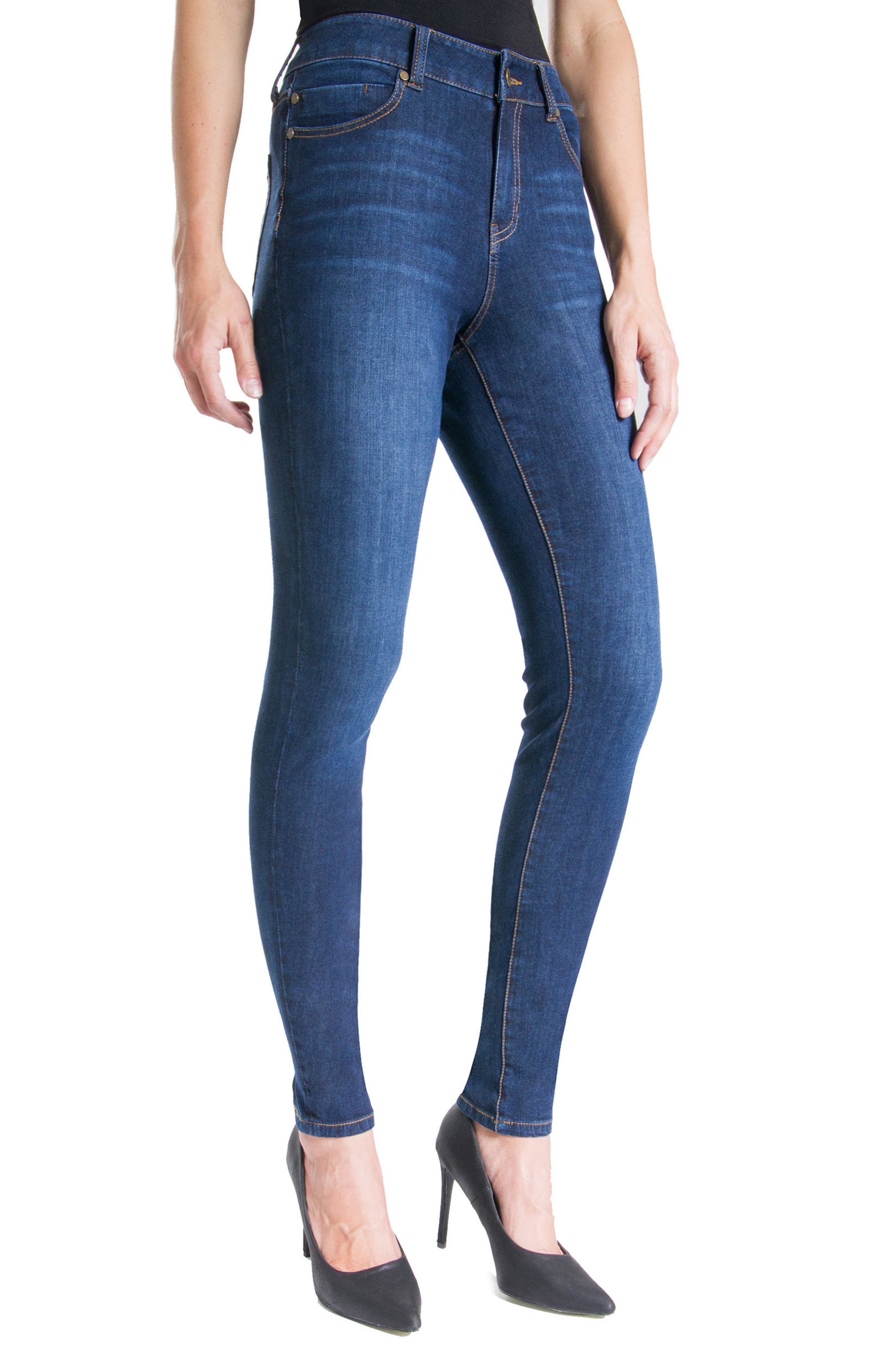Abby Stretch Skinny Jeans,                             Alternate thumbnail 3, color,                             401