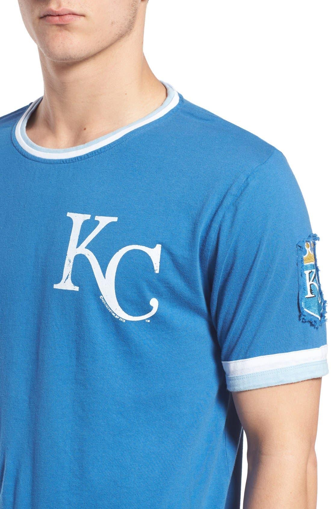 'Kansas City Royals - Remote Control' Trim Fit T-Shirt,                             Alternate thumbnail 4, color,                             450