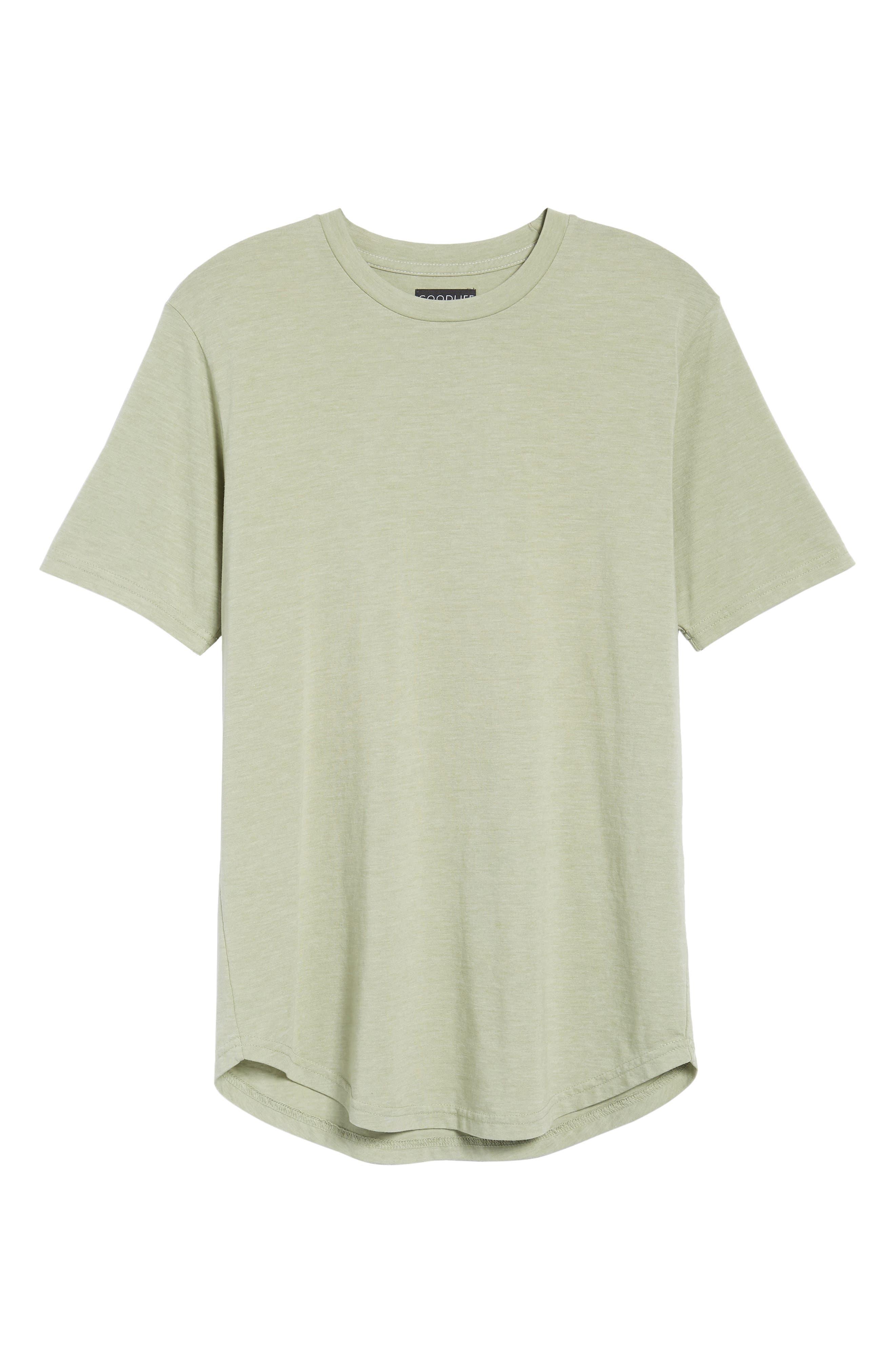 Scallop Triblend Crewneck T-Shirt,                             Alternate thumbnail 120, color,