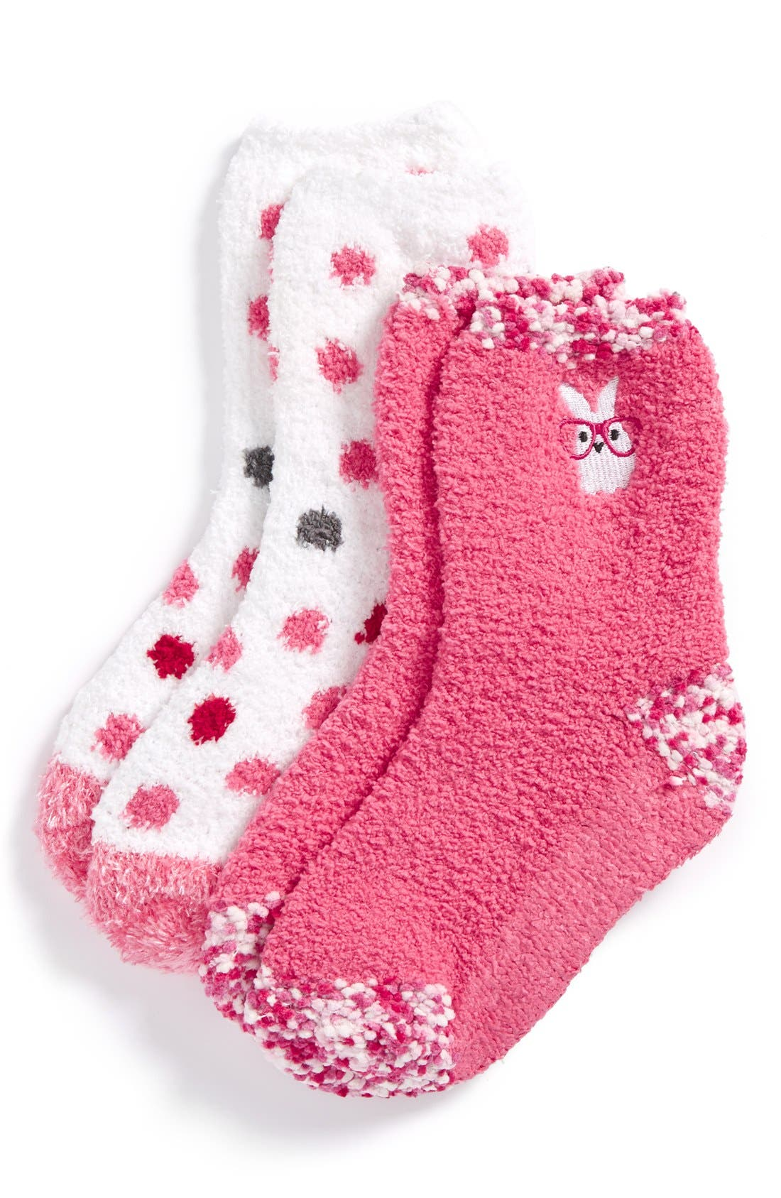 girl 'Bunny' Nonskid Fuzzy Socks,                             Main thumbnail 1, color,                             650