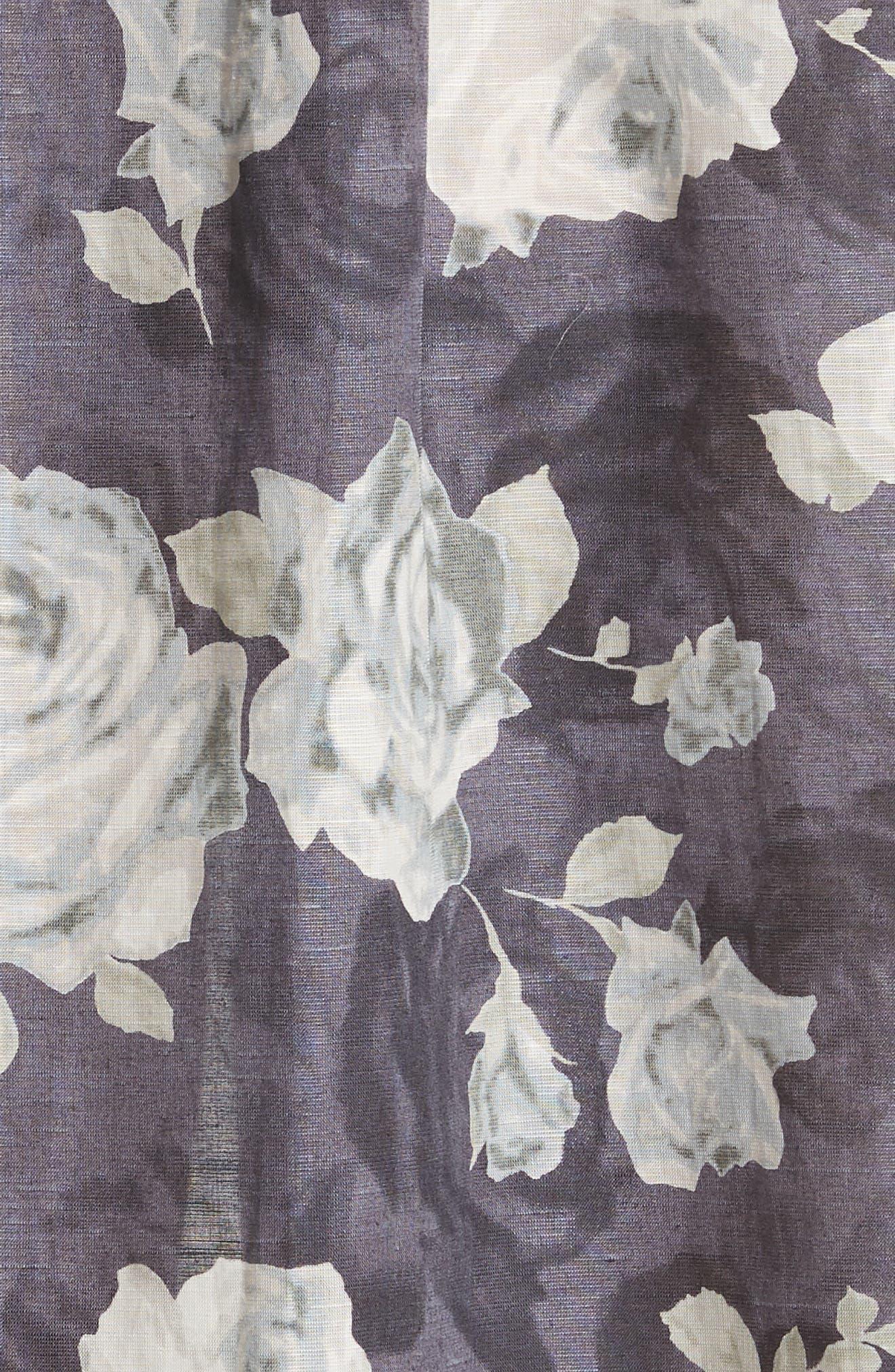 Rose Print Dress,                             Alternate thumbnail 5, color,                             020