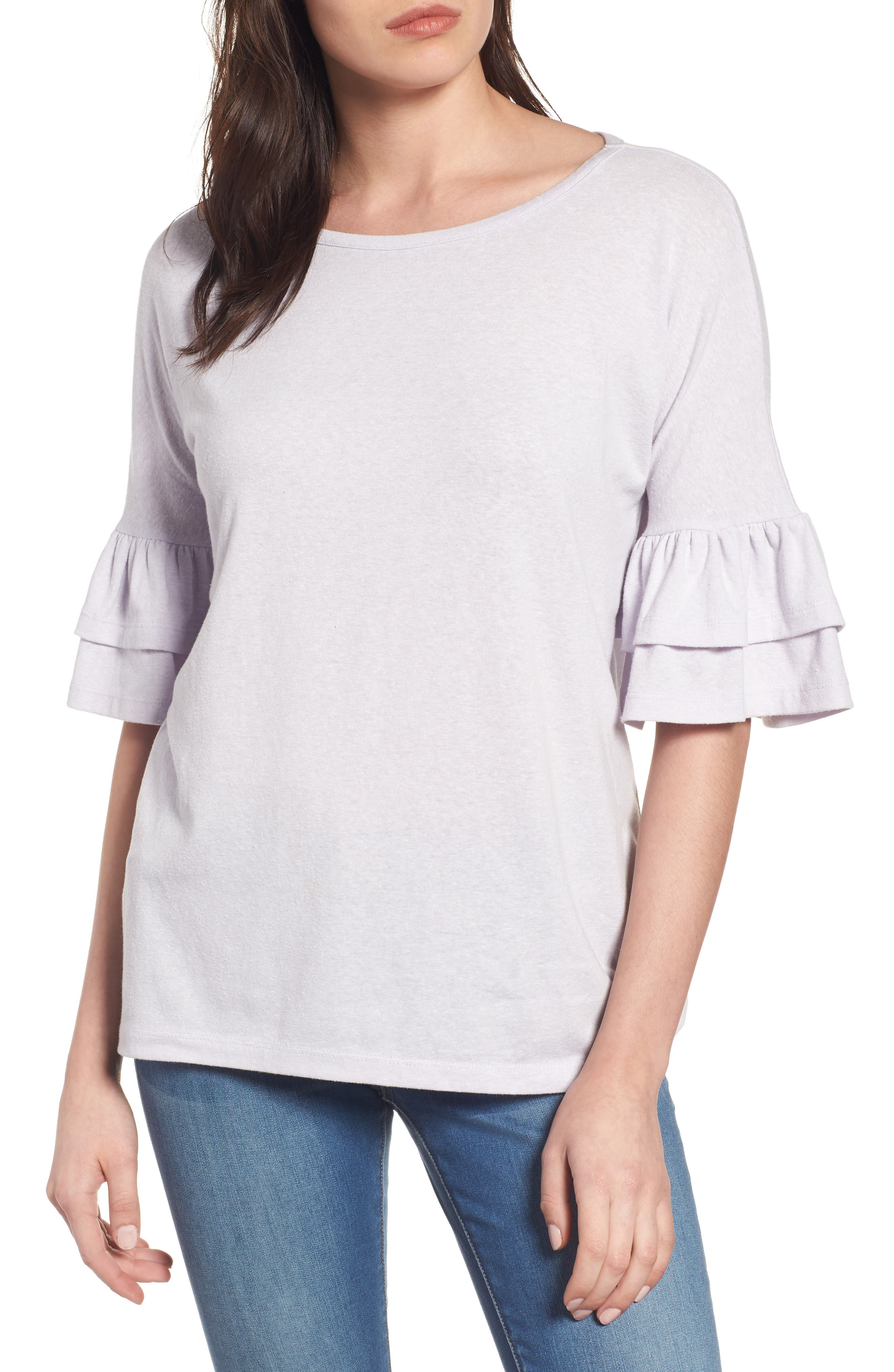 Tiered Bell Sleeve Tee,                             Main thumbnail 7, color,