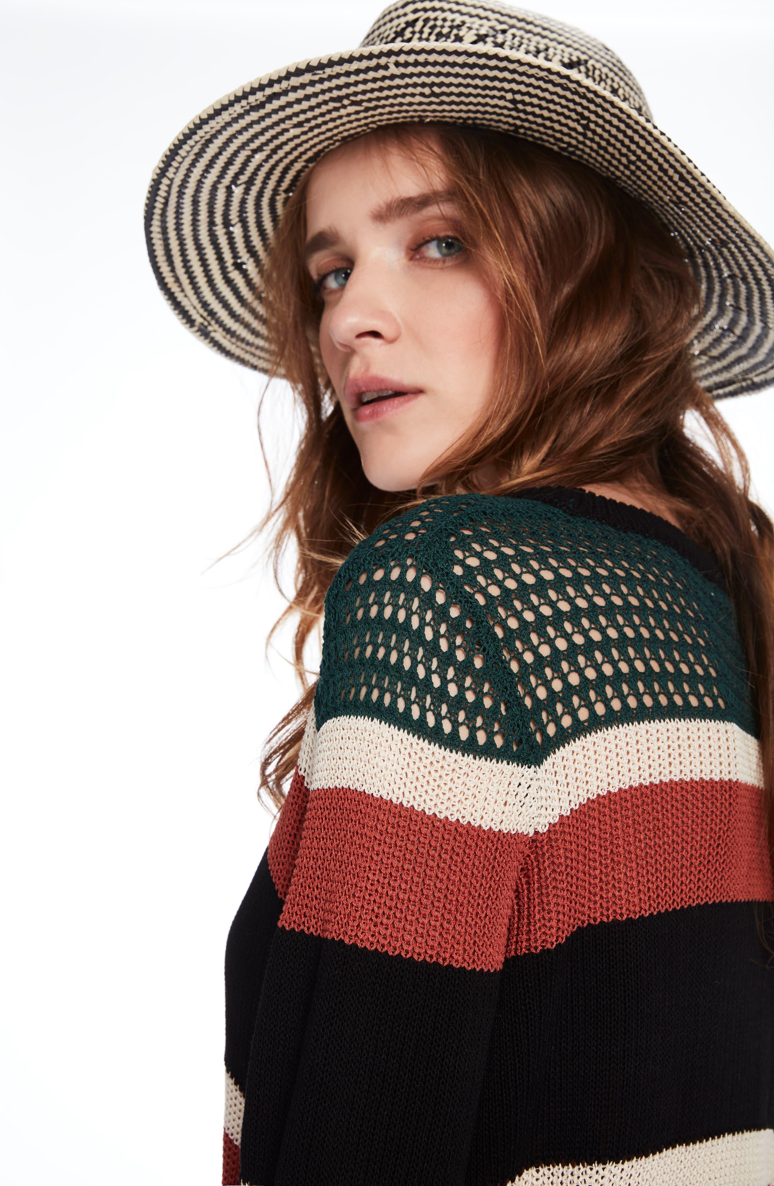 Stripe Crewneck Sweater,                             Alternate thumbnail 3, color,                             600