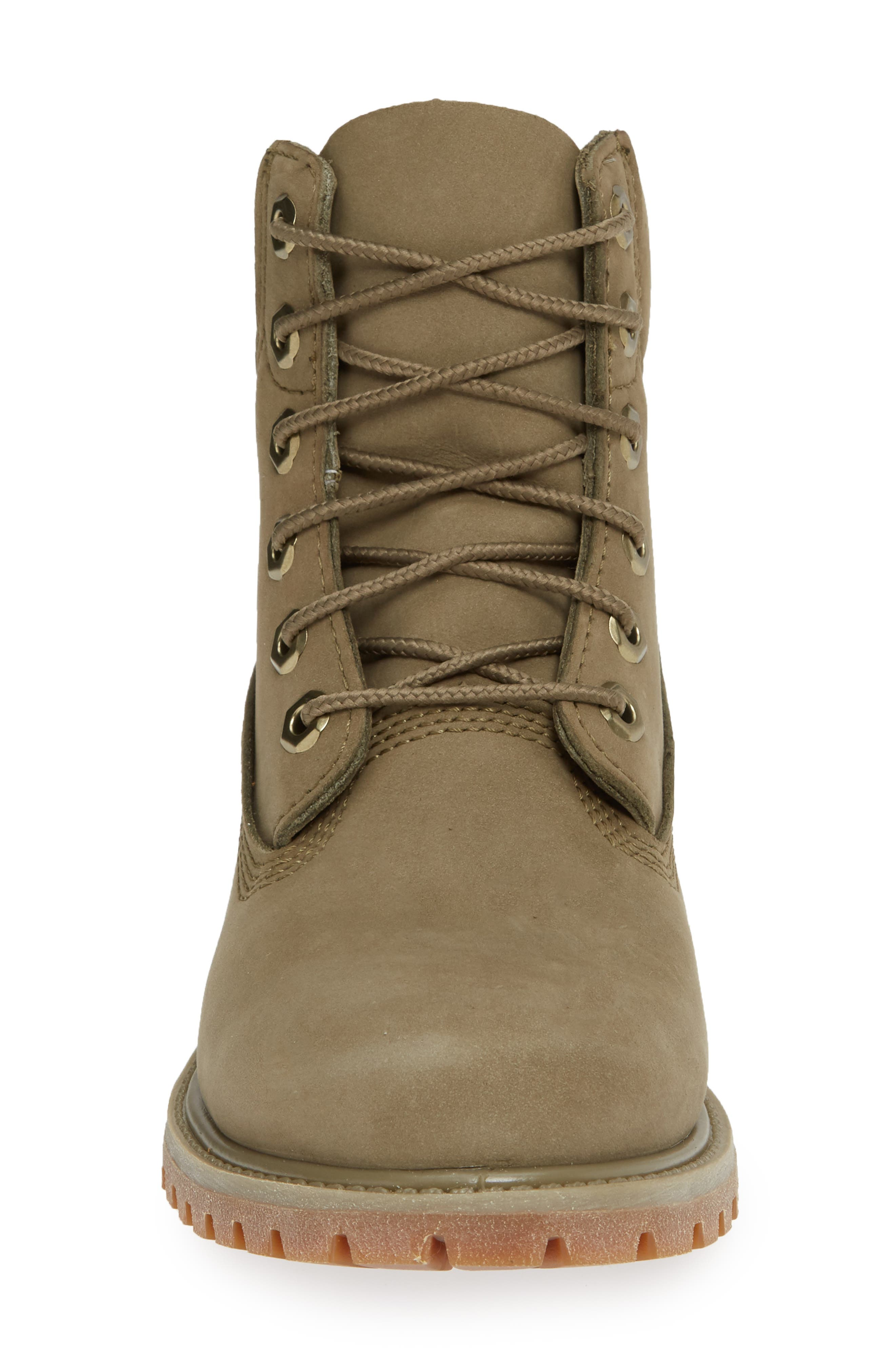 '6 Inch Premium' Waterproof Boot,                             Alternate thumbnail 4, color,                             COVERT GREEN LEATHER