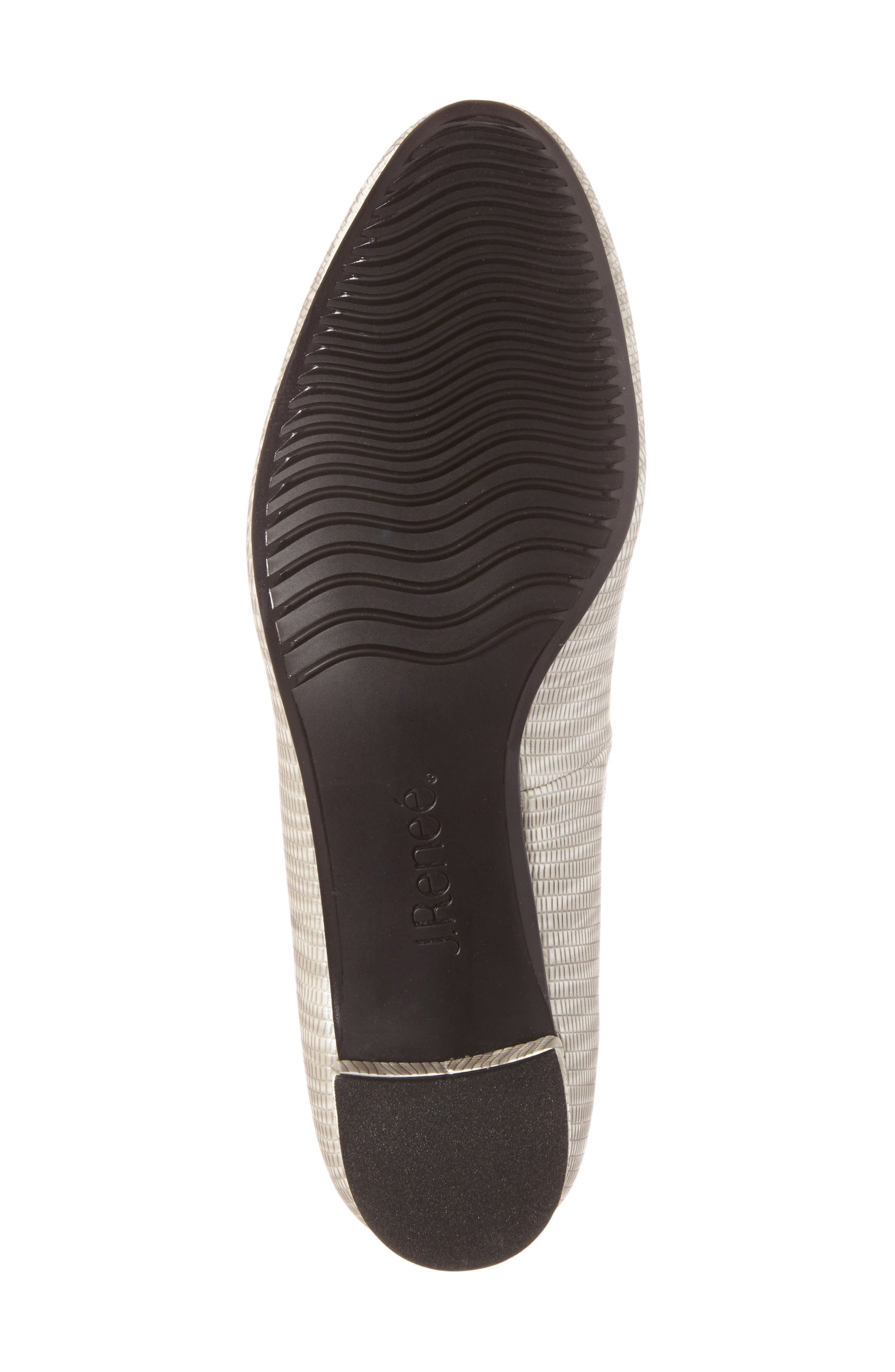 Bambalina Block Heel Pump,                             Alternate thumbnail 4, color,                             GREY METALLIC FAUX LEATHER