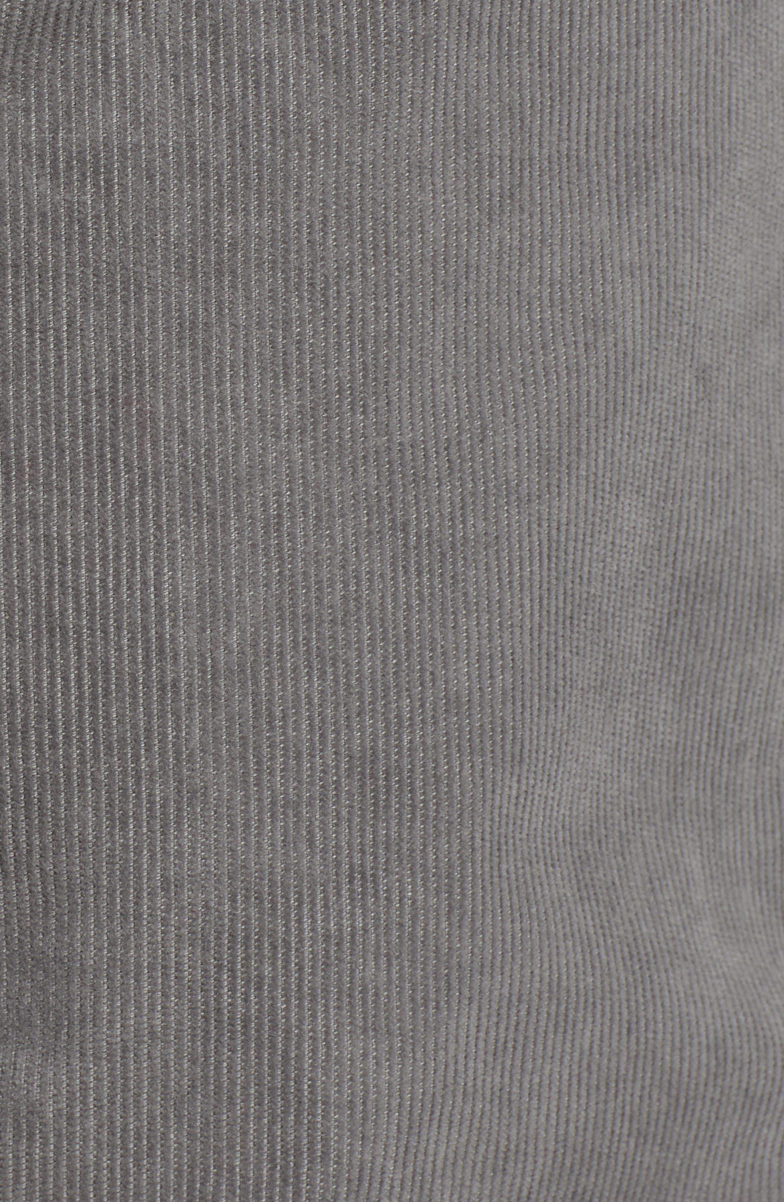 Everett Straight Leg Corduroy Pants,                             Alternate thumbnail 5, color,                             SULFUR AUTUMN FOG