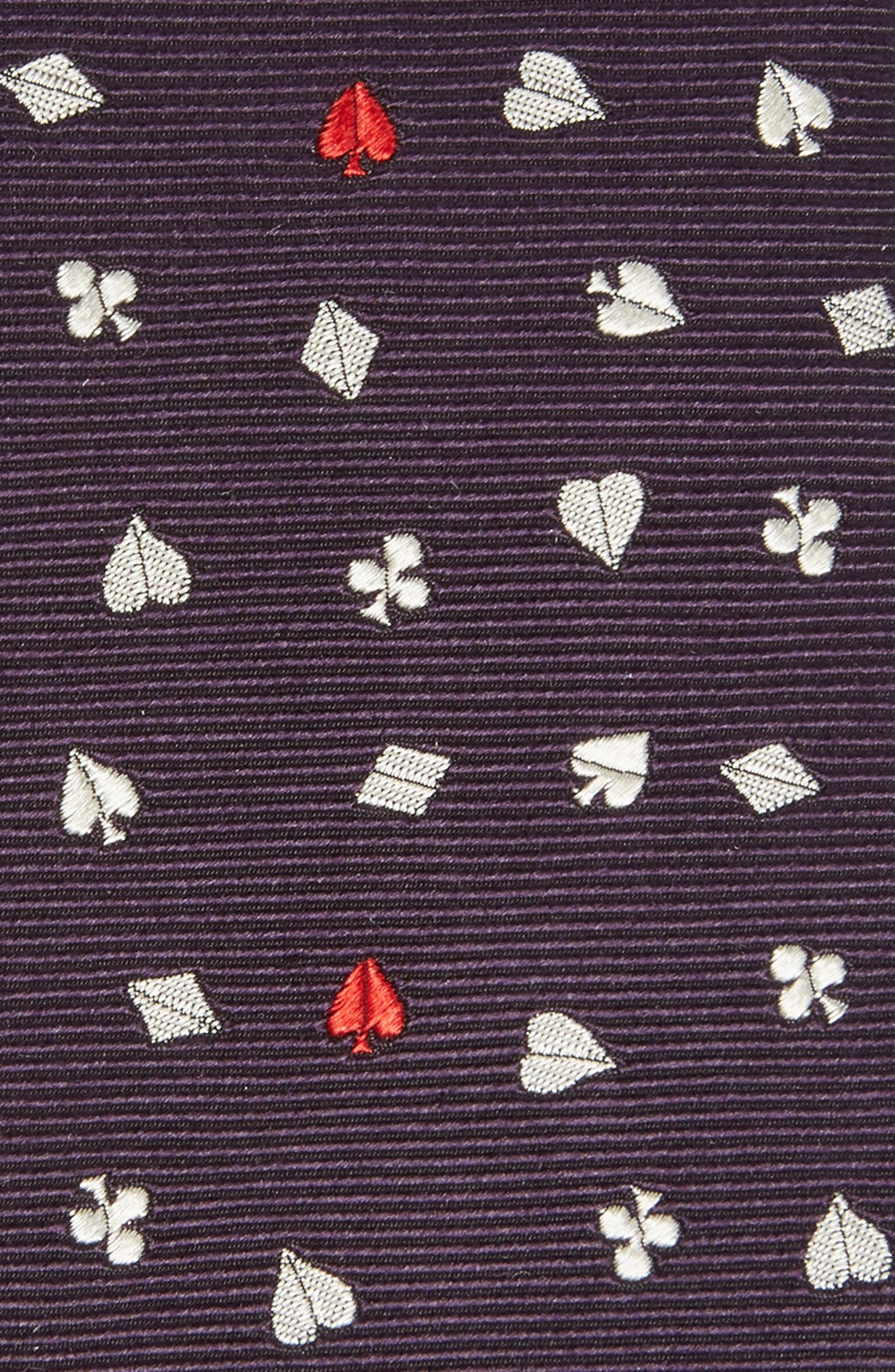 Poker Silk Skinny Tie,                             Alternate thumbnail 2, color,                             410