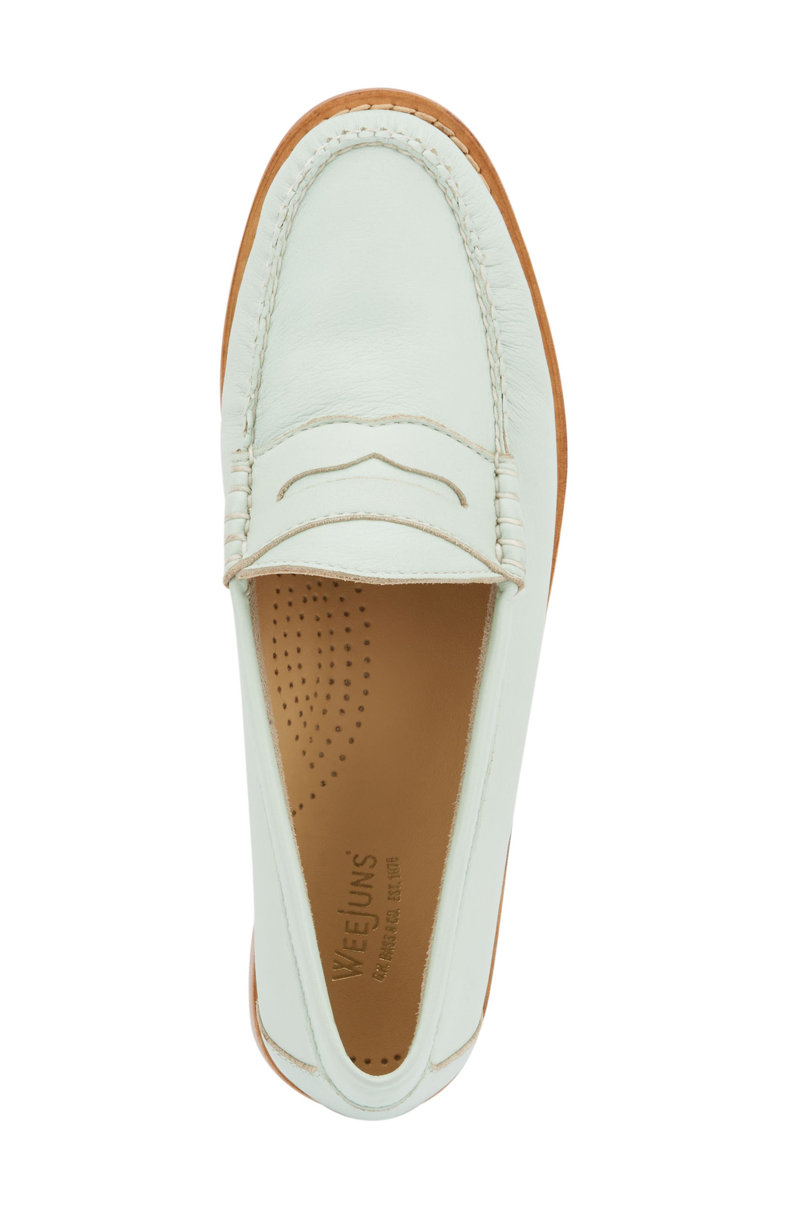 'Whitney' Loafer,                             Alternate thumbnail 5, color,                             MINT GREEN LEATHER