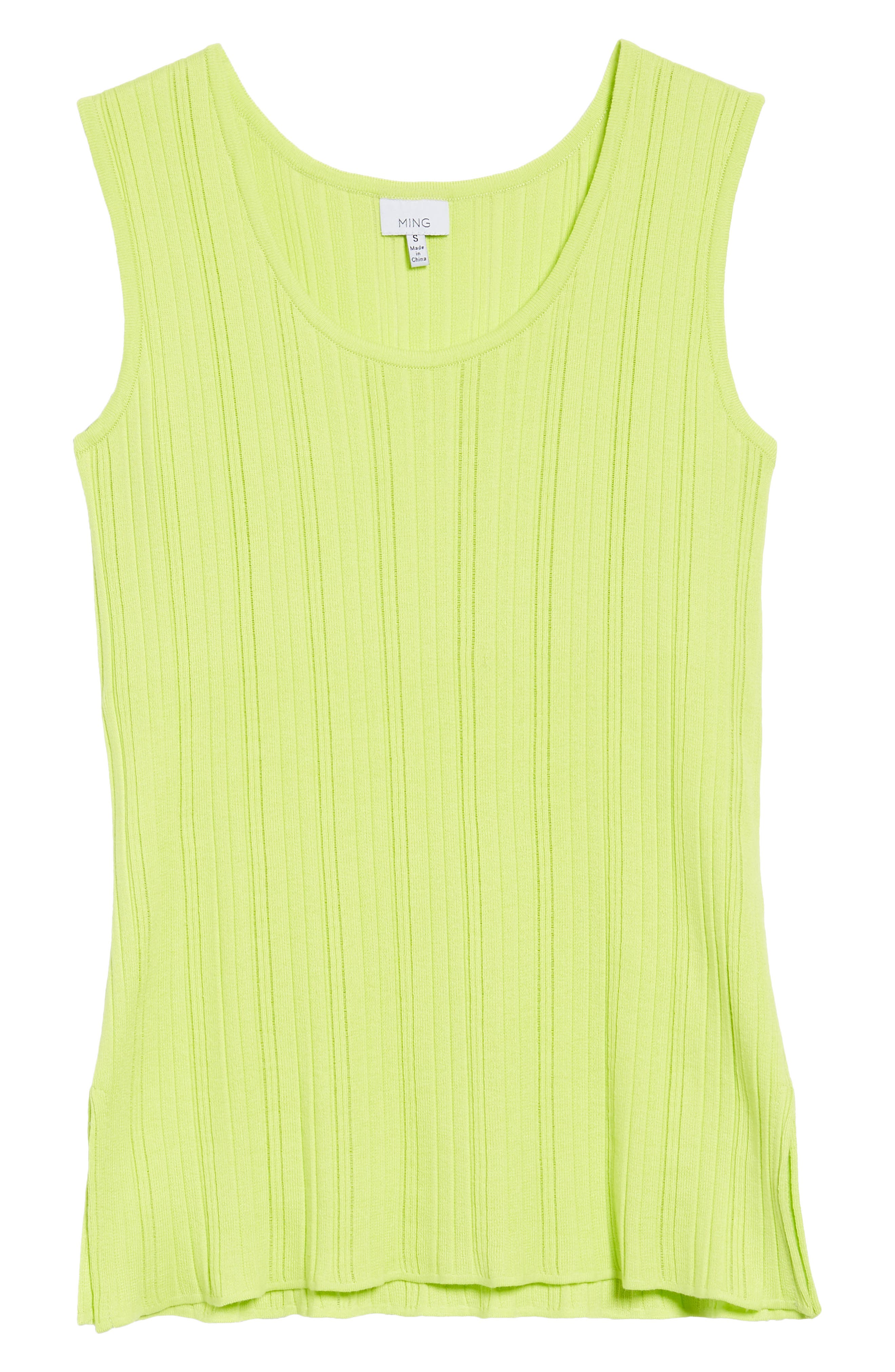Scoop Neck Ribbed Knit Tank,                             Alternate thumbnail 6, color,                             321