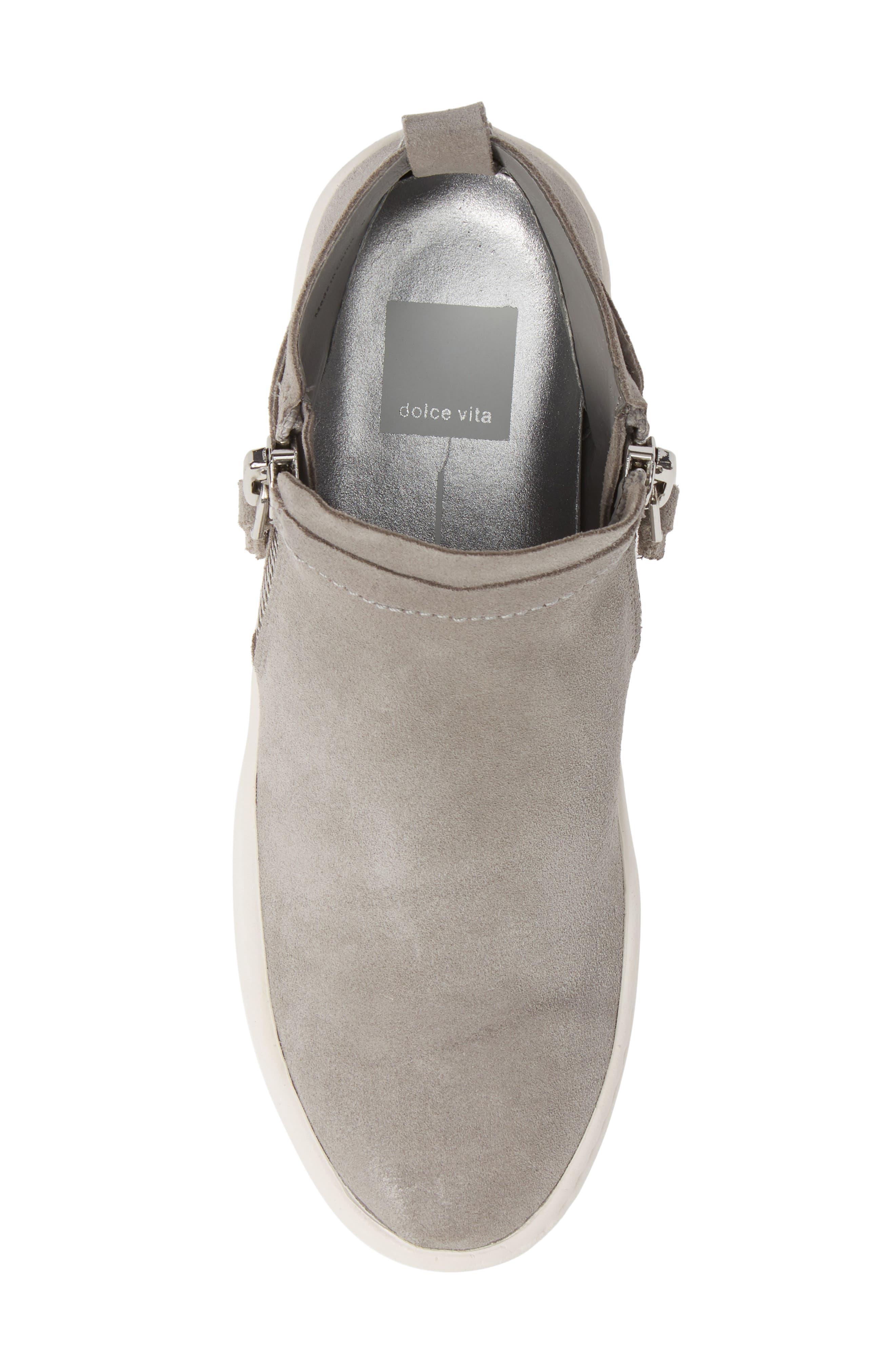 DOLCE VITA,                             Tobee Zip Sneaker,                             Alternate thumbnail 5, color,                             SMOKE SUEDE