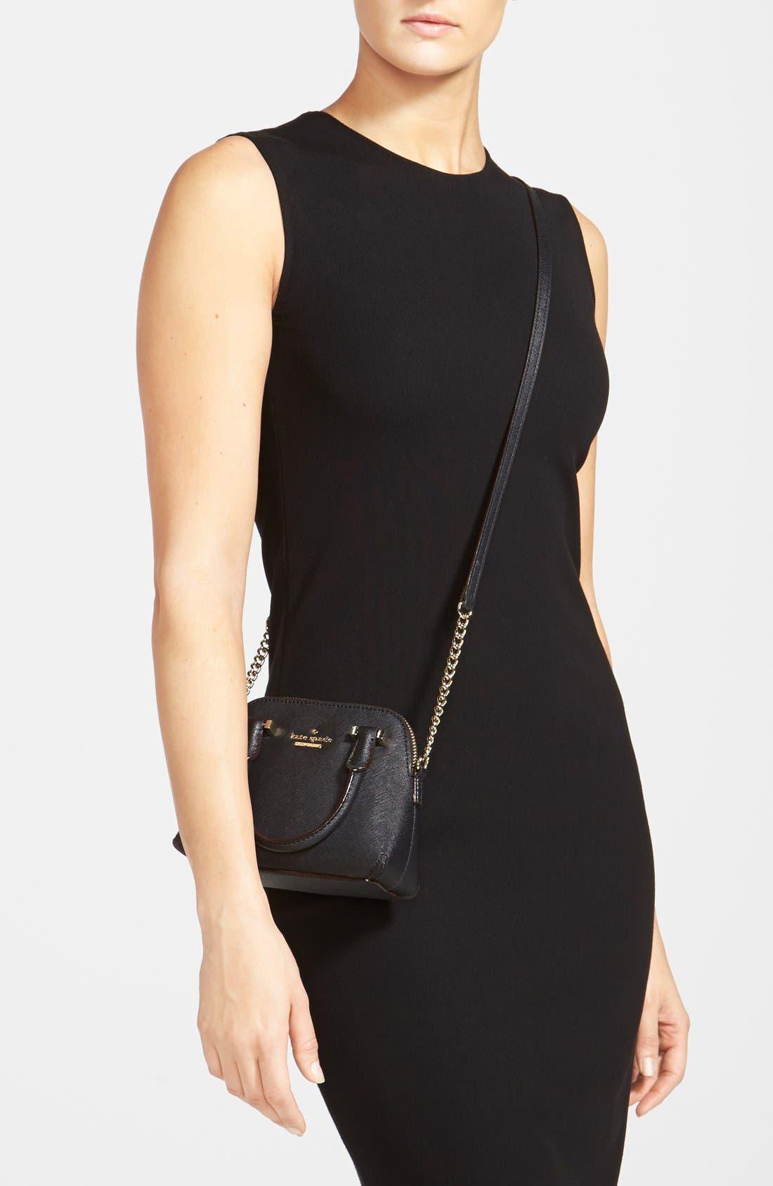 'cedar street - mini maise' crossbody bag,                             Alternate thumbnail 4, color,                             001