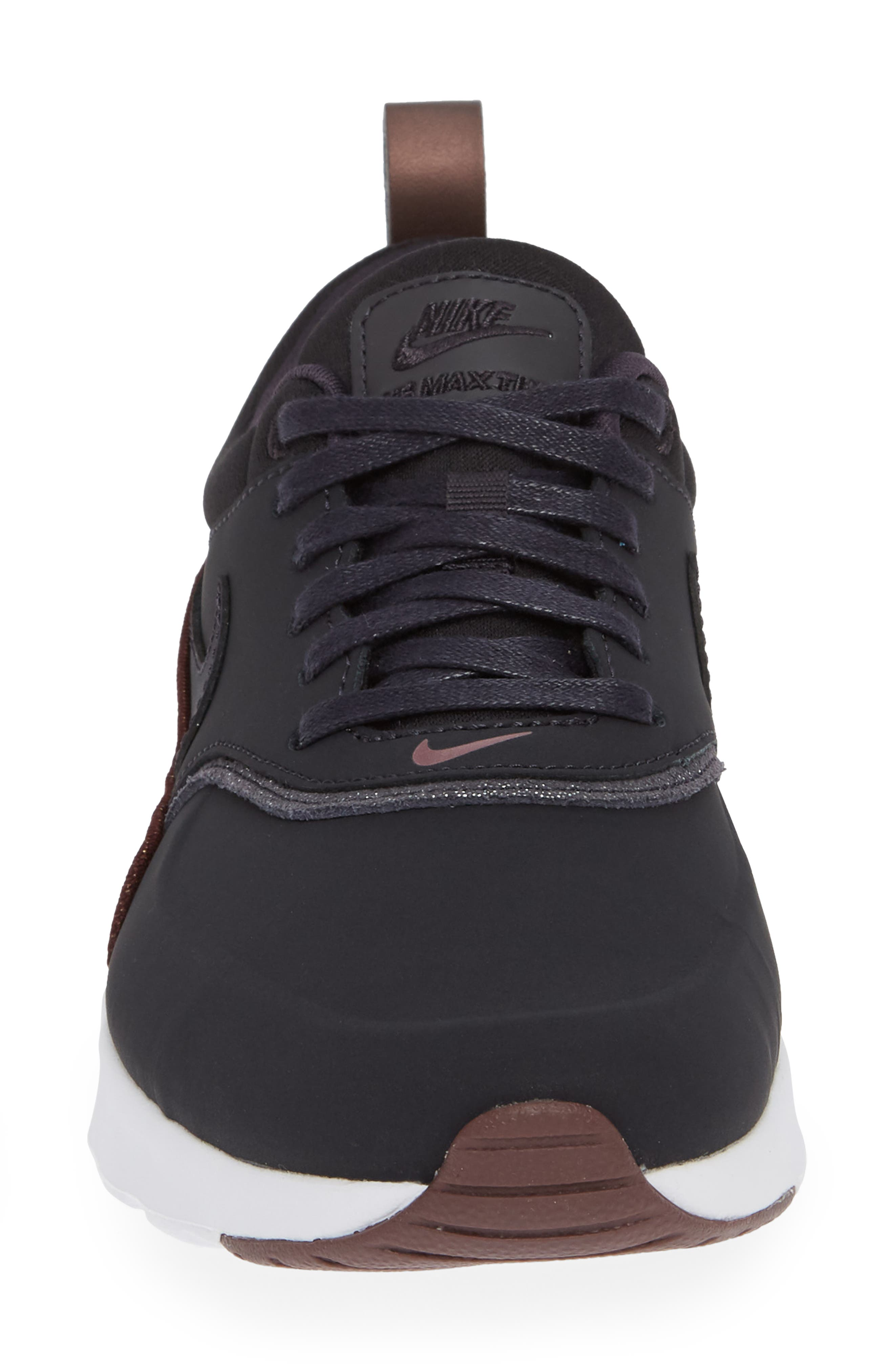 Air Max Thea Sneaker,                             Alternate thumbnail 4, color,                             OIL GREY/ OIL GREY/ MAHOGANY