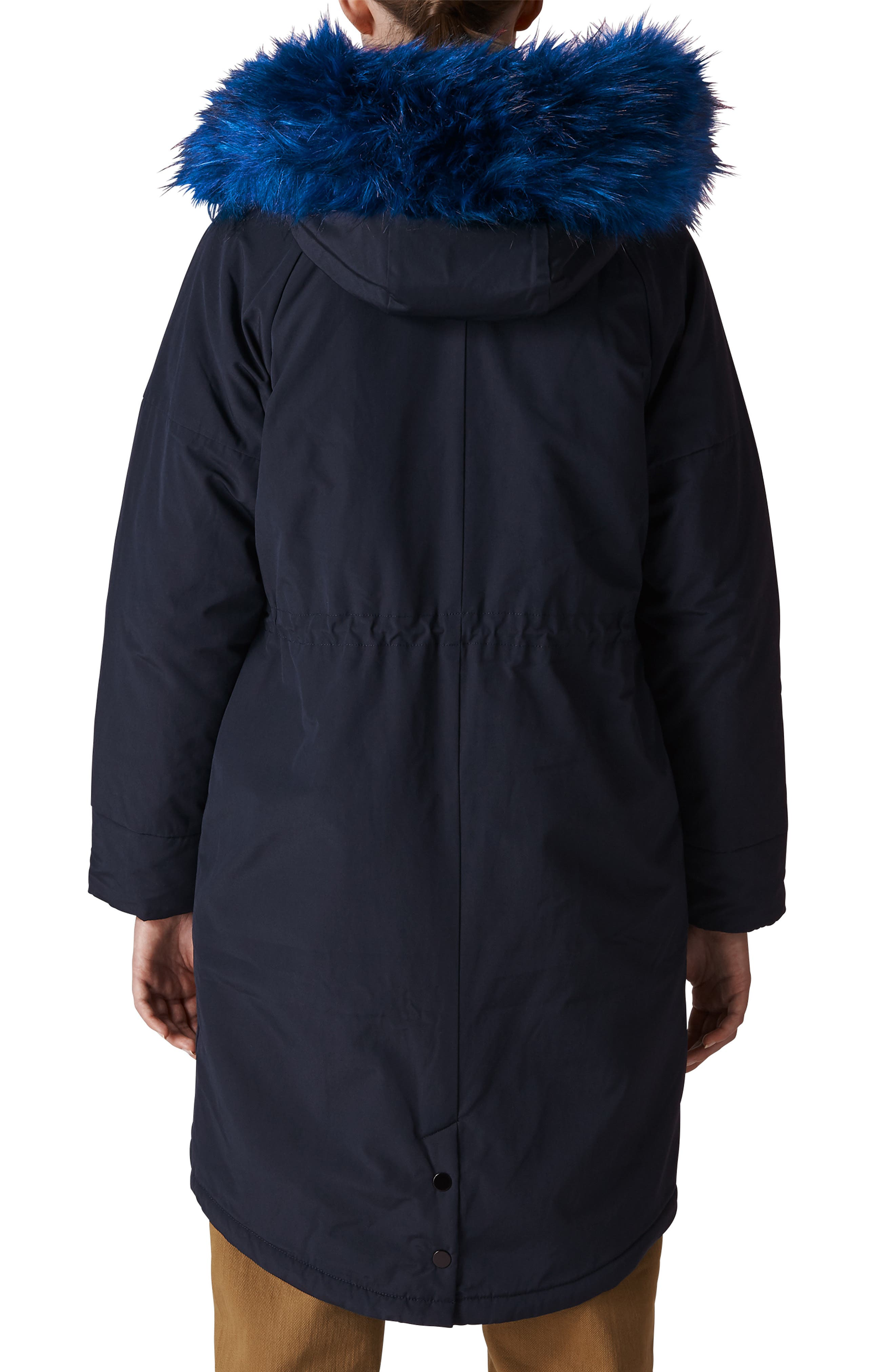 Megan Water Repellent Parka with Faux Fur Trim,                             Alternate thumbnail 2, color,                             400