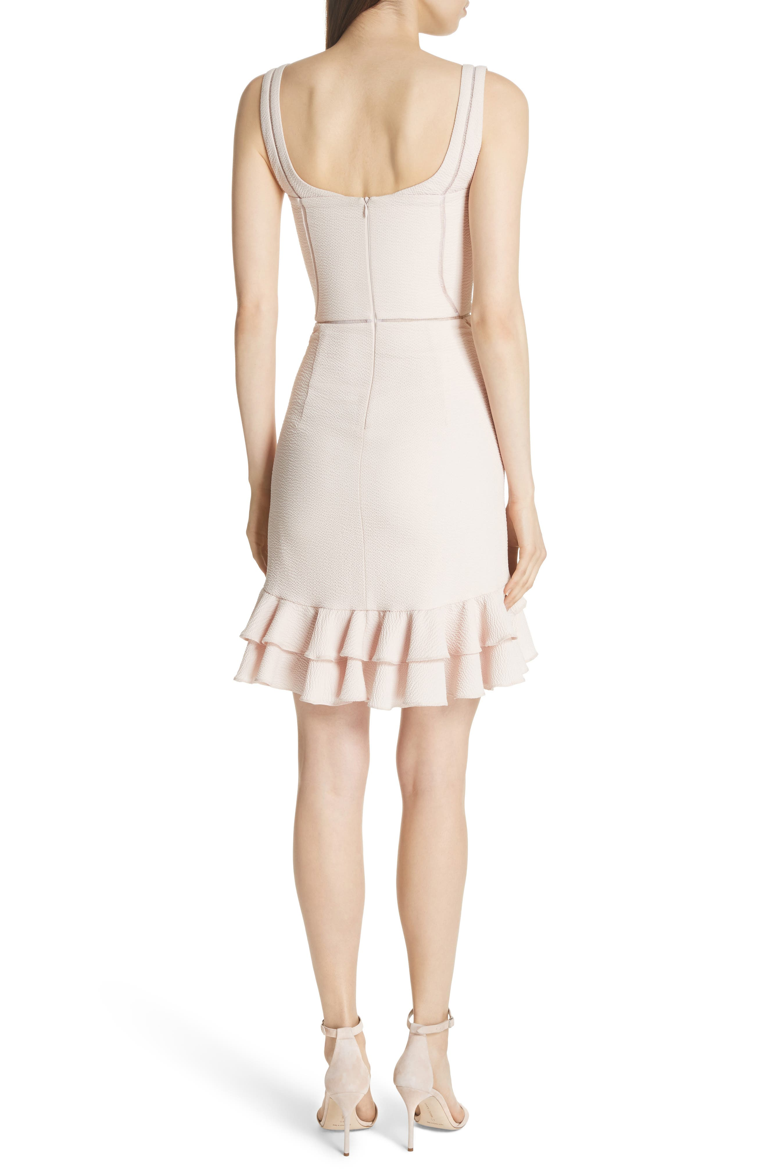 Seersucker Bustier Dress,                             Alternate thumbnail 2, color,