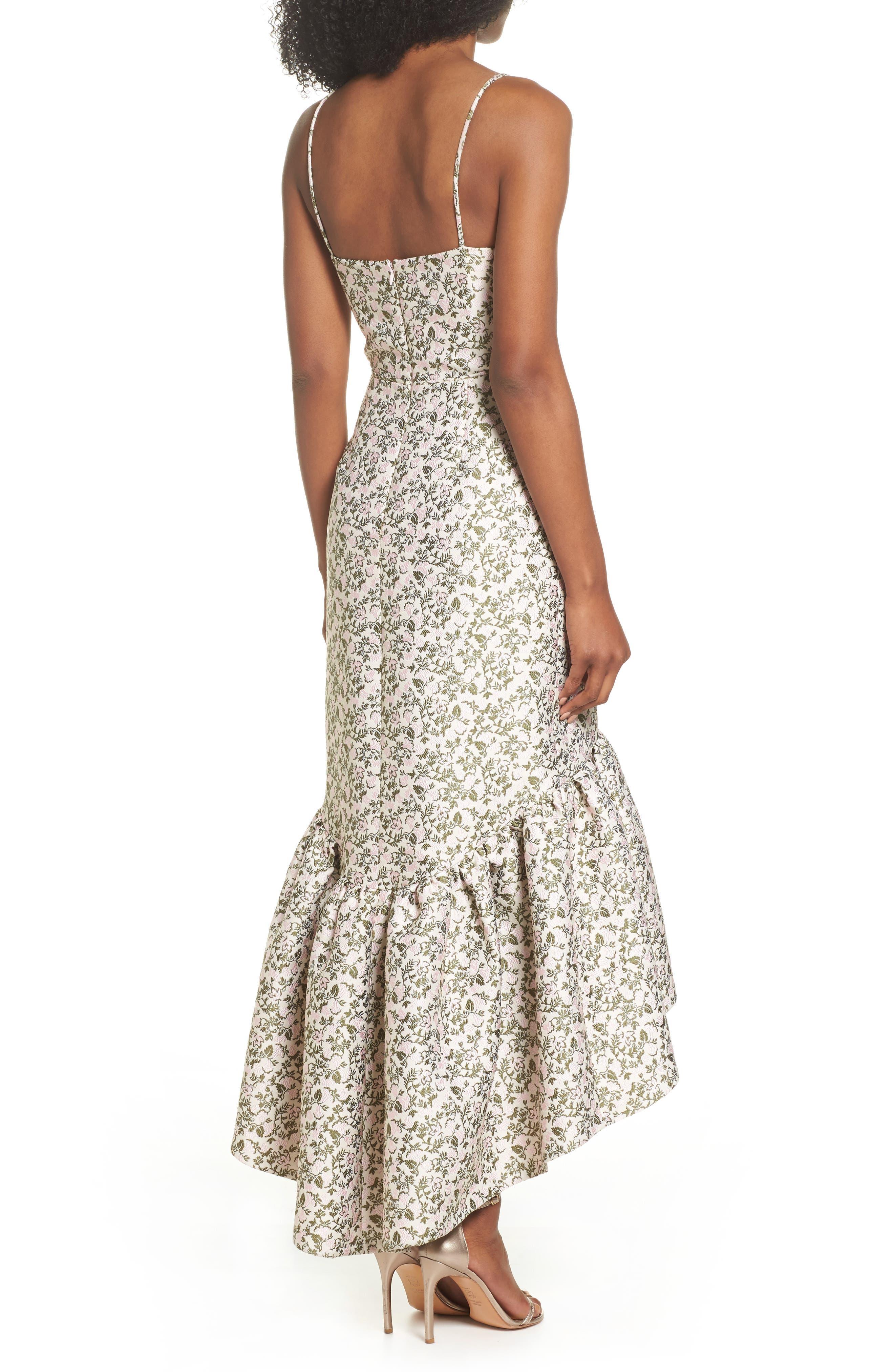 Jacquard High/Low Midi Dress,                             Alternate thumbnail 2, color,