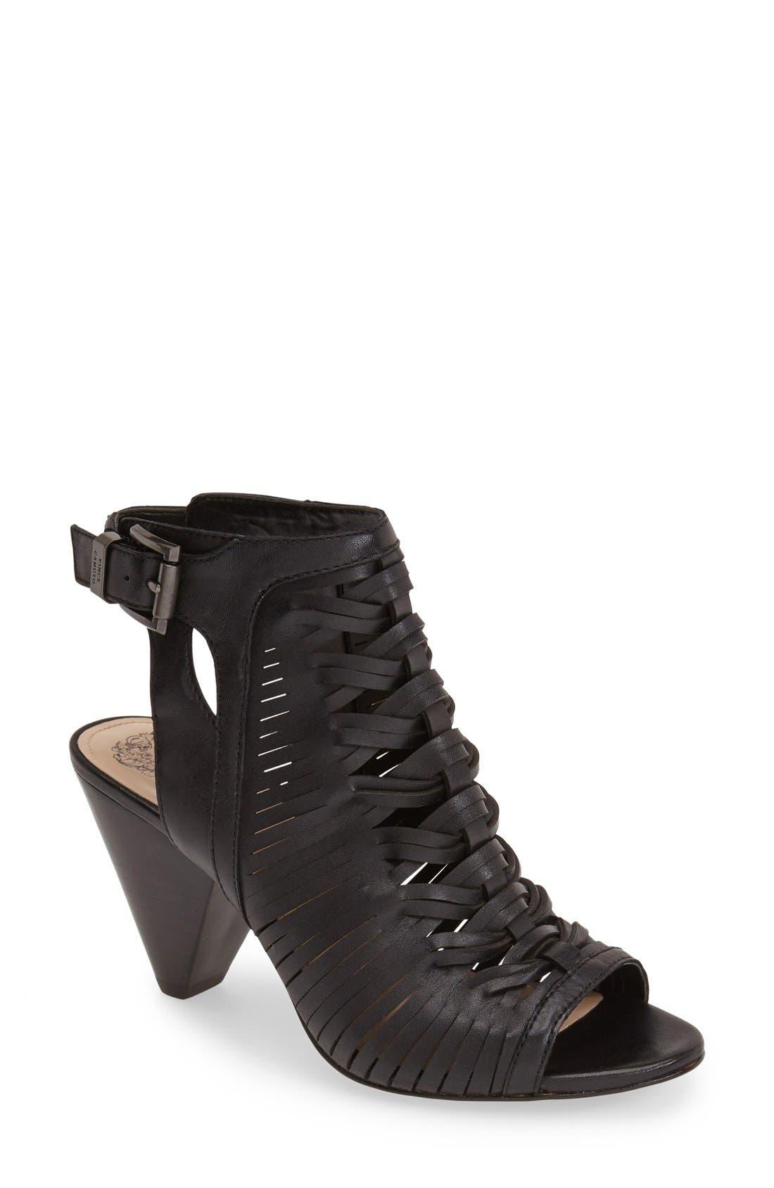 'Emore' Leather Sandal,                             Main thumbnail 1, color,                             001