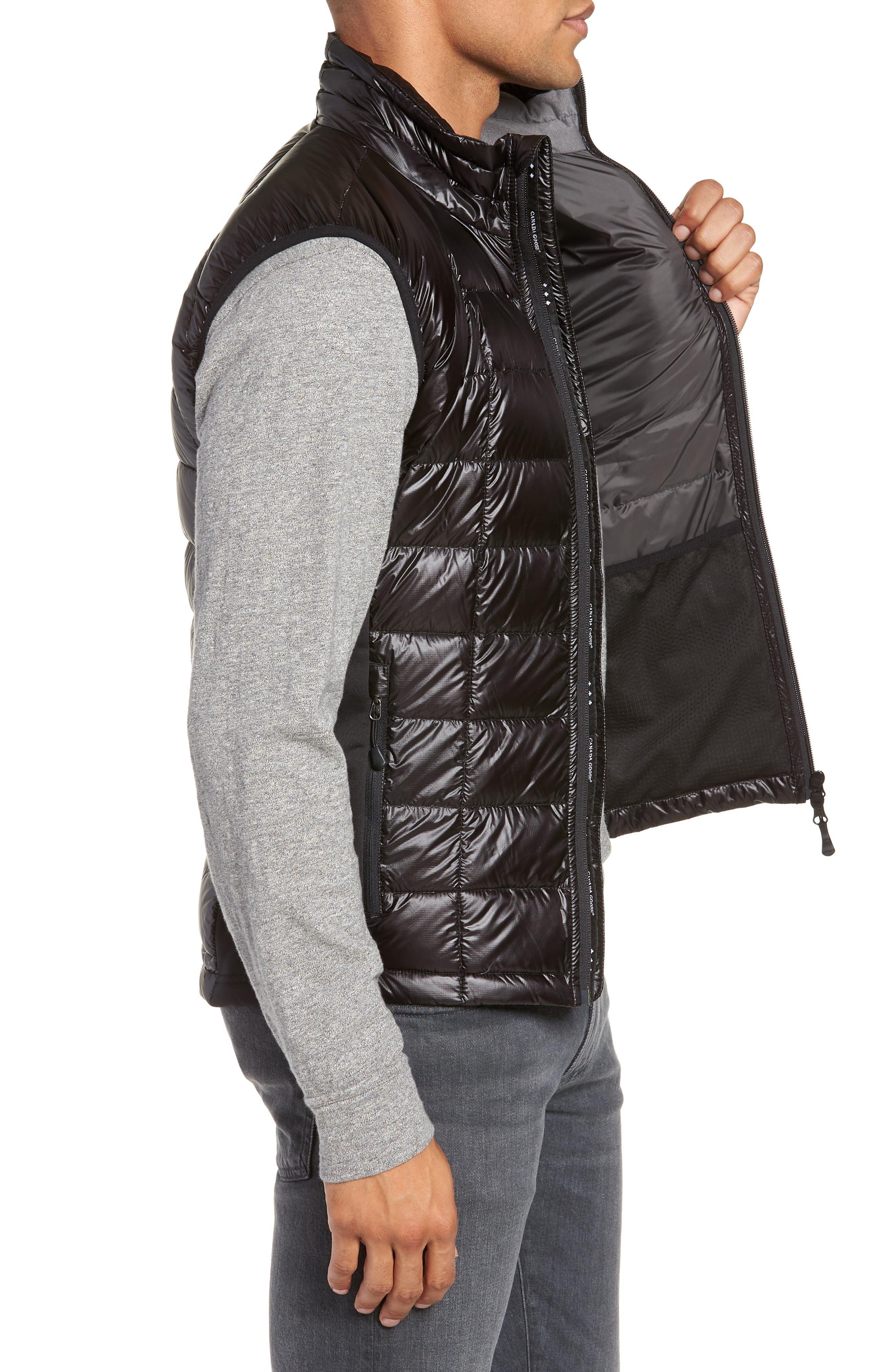 'Hybridge<sup>™</sup> Lite' Slim Fit Packable Quilted 800-Fill Down Vest,                             Alternate thumbnail 3, color,                             BLACK/ GRAPHITE