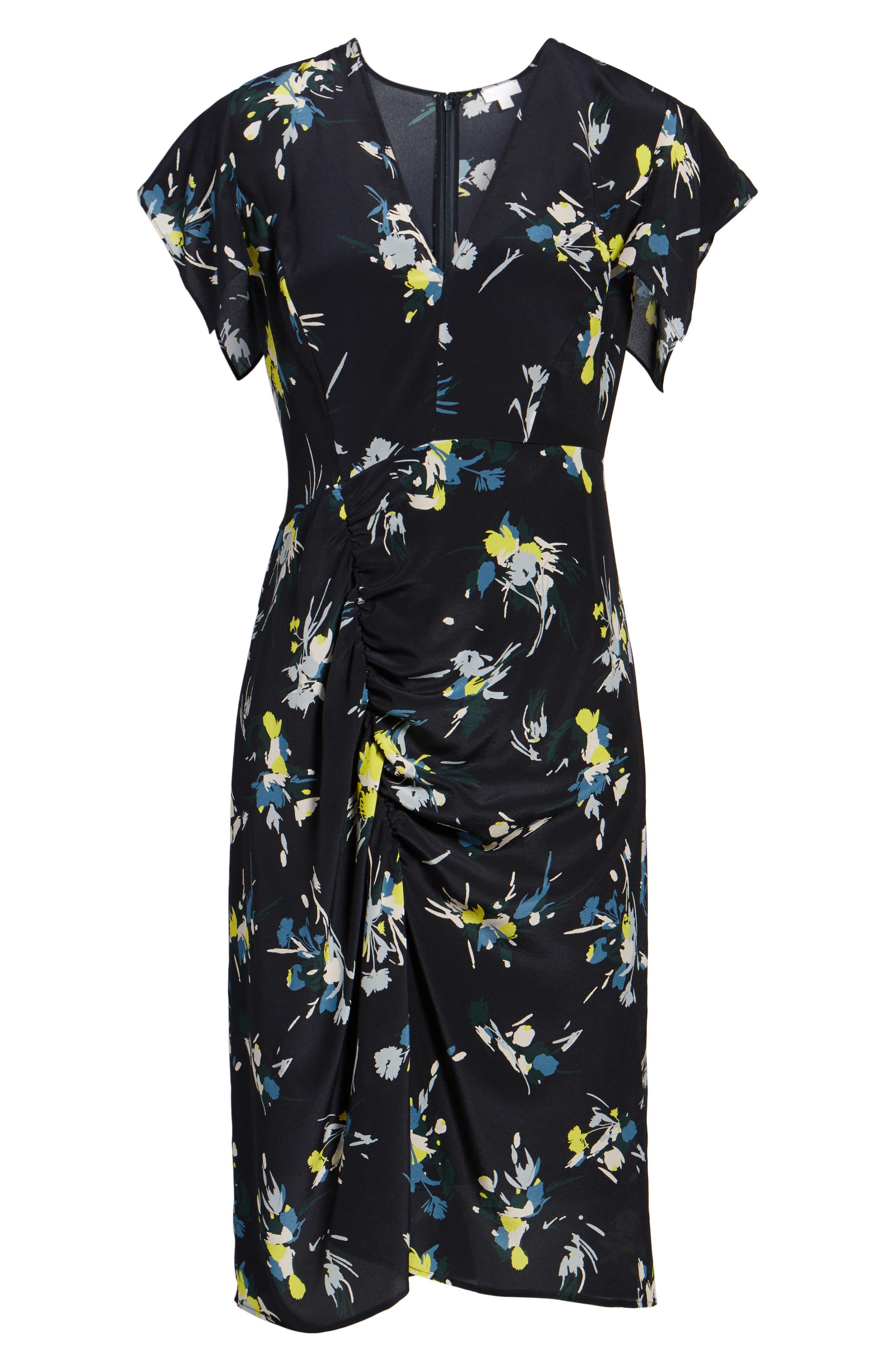 Print Silk Dress,                             Alternate thumbnail 6, color,                             410