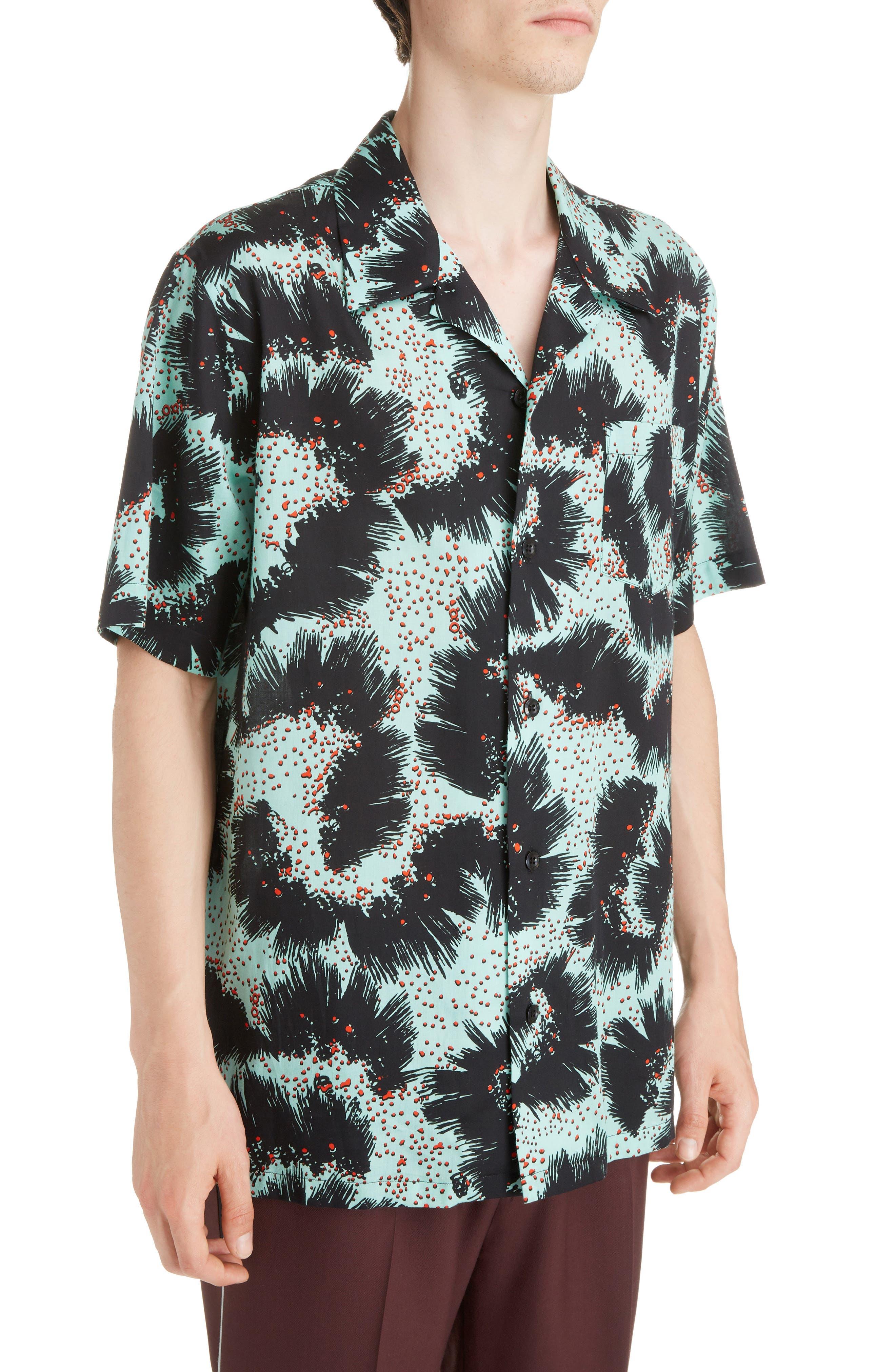 Rock Urchin Camp Shirt,                             Alternate thumbnail 2, color,                             GREEN/BLACK