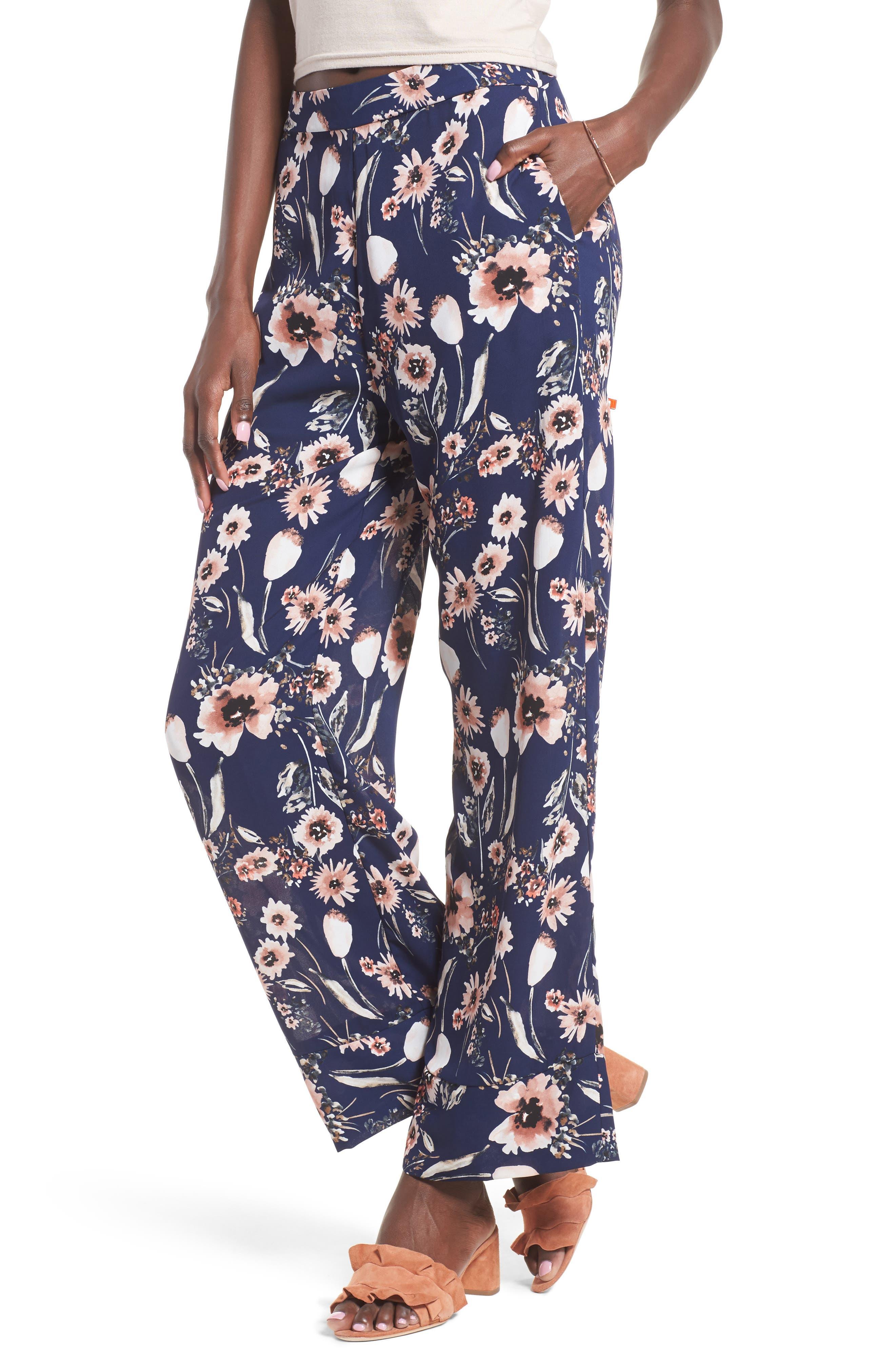 Wide Leg Pants, Main, color, 410