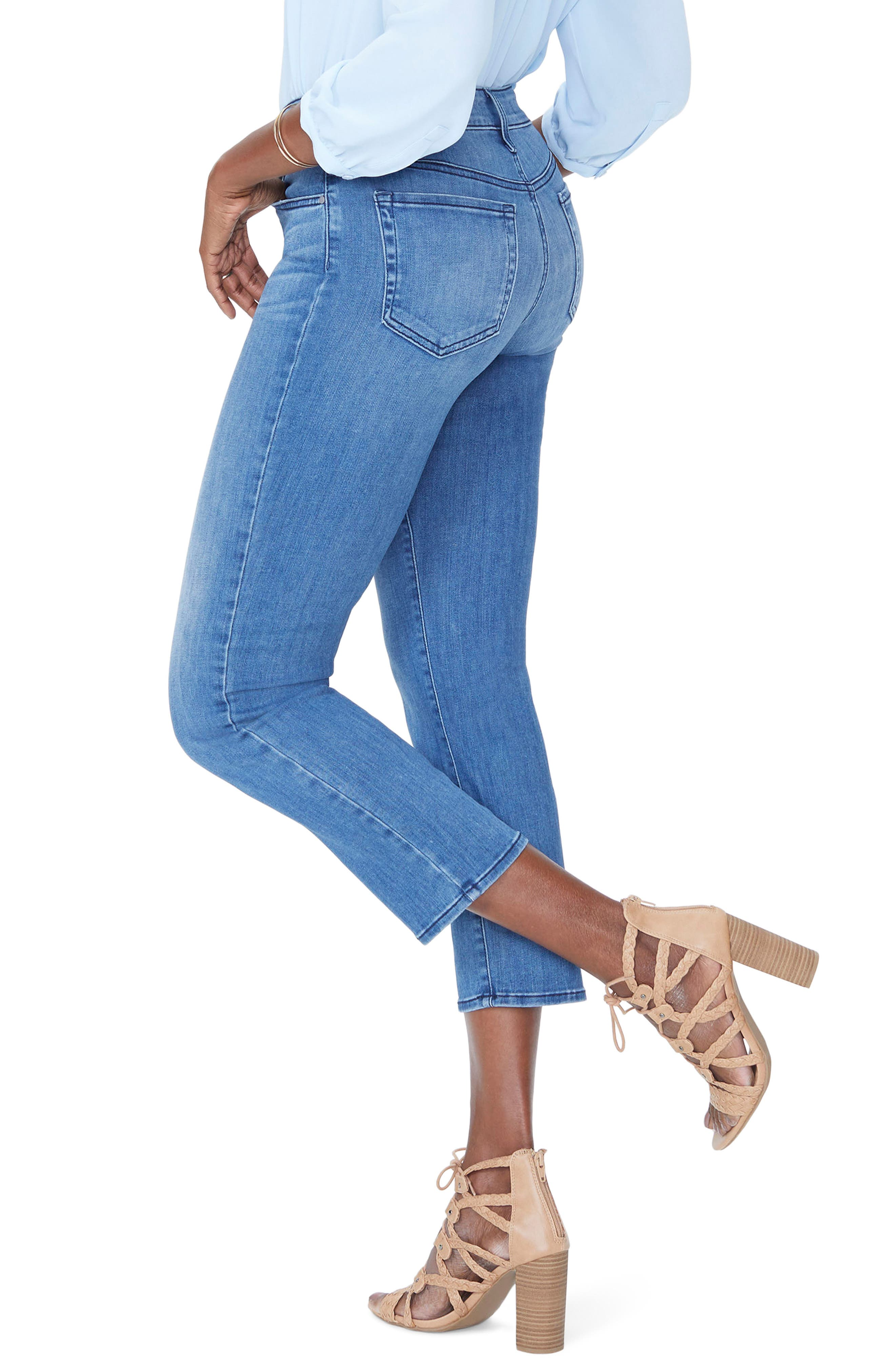 Jenna Straight Ankle Crop Jeans,                             Alternate thumbnail 3, color,