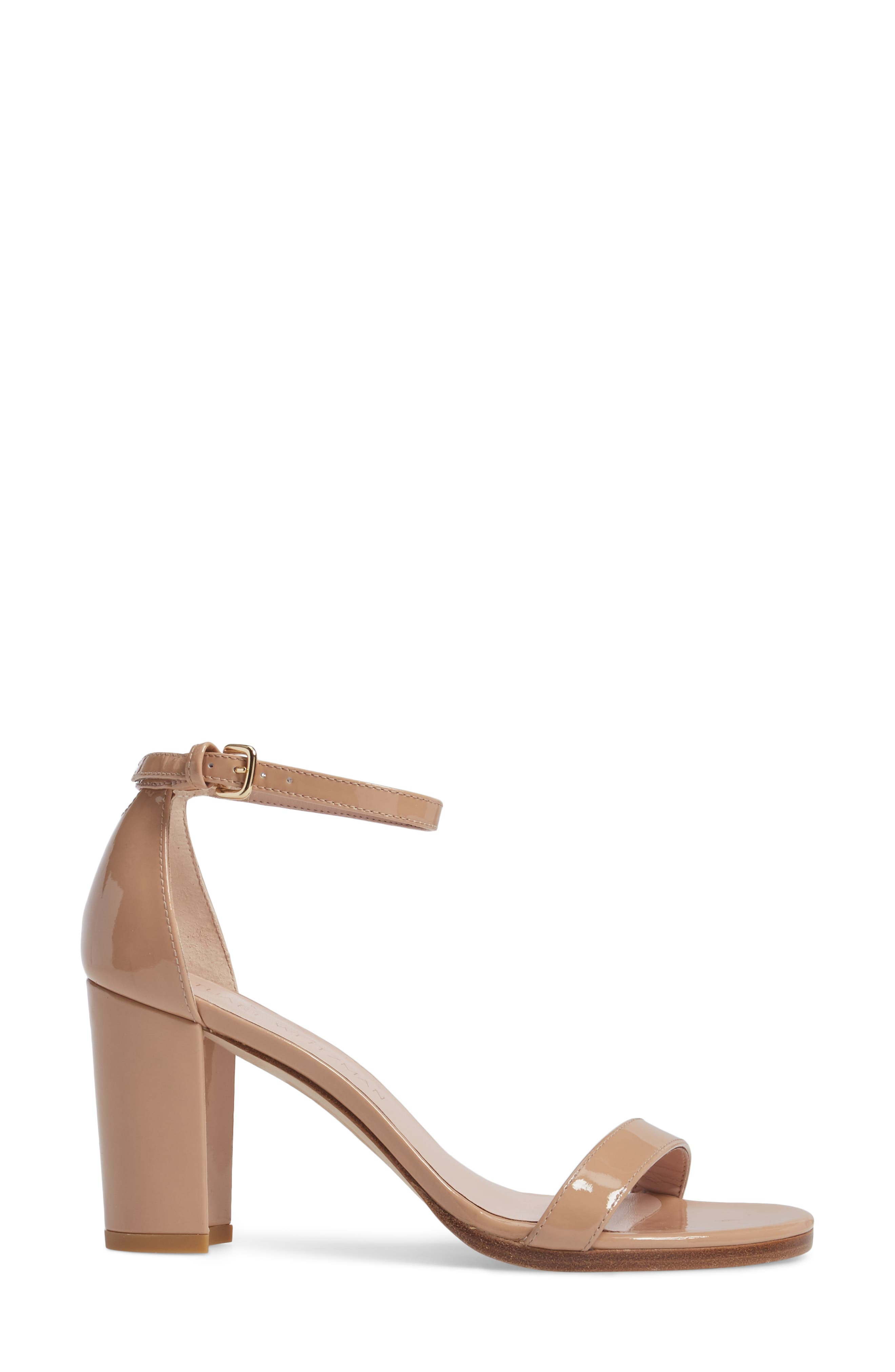 NearlyNude Ankle Strap Sandal,                             Alternate thumbnail 3, color,                             ADOBE ANILINE