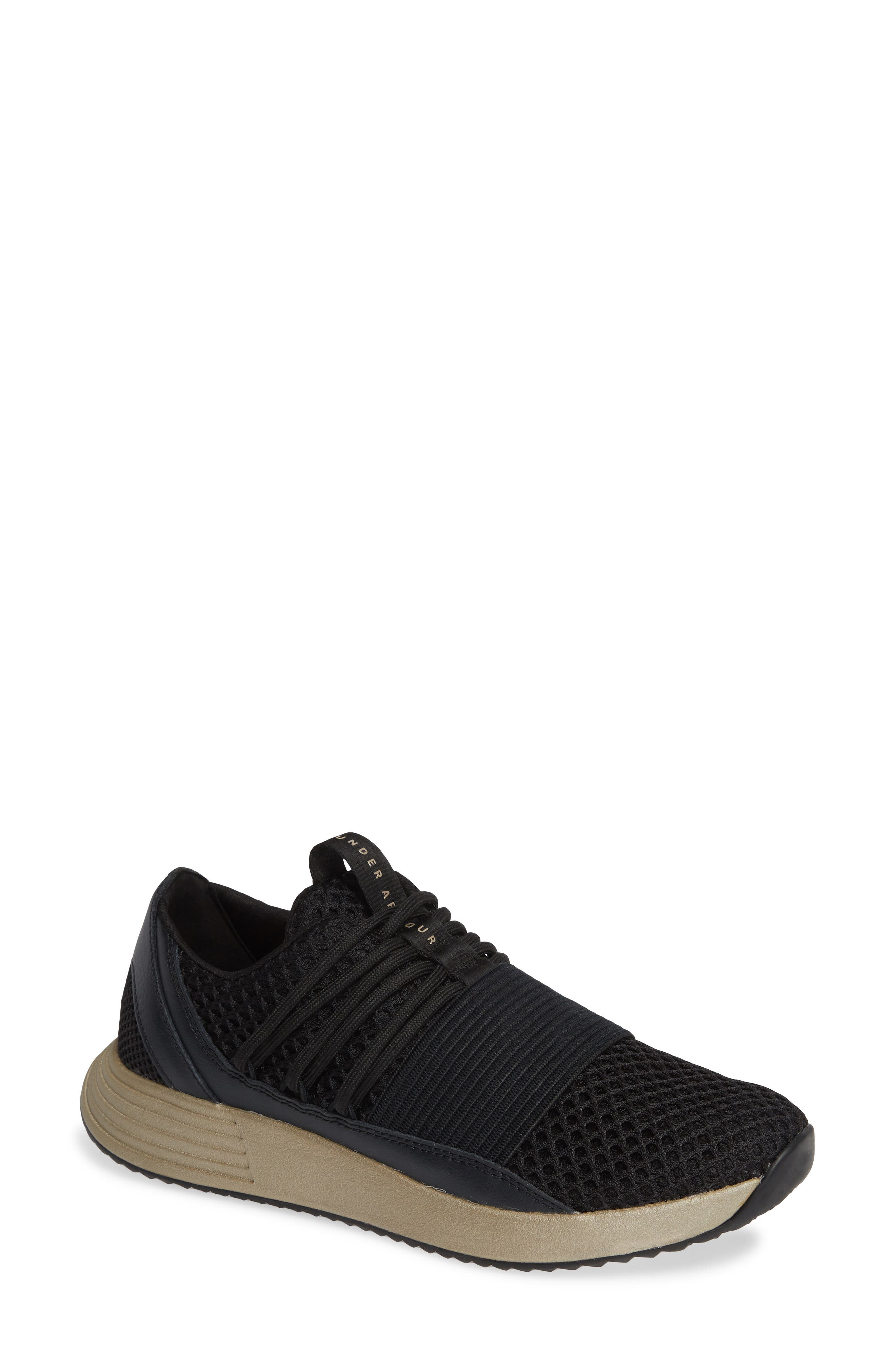 Breathe Lace X NM Sneaker,                             Main thumbnail 1, color,                             BLACK/ METALLIC FADED GOLD