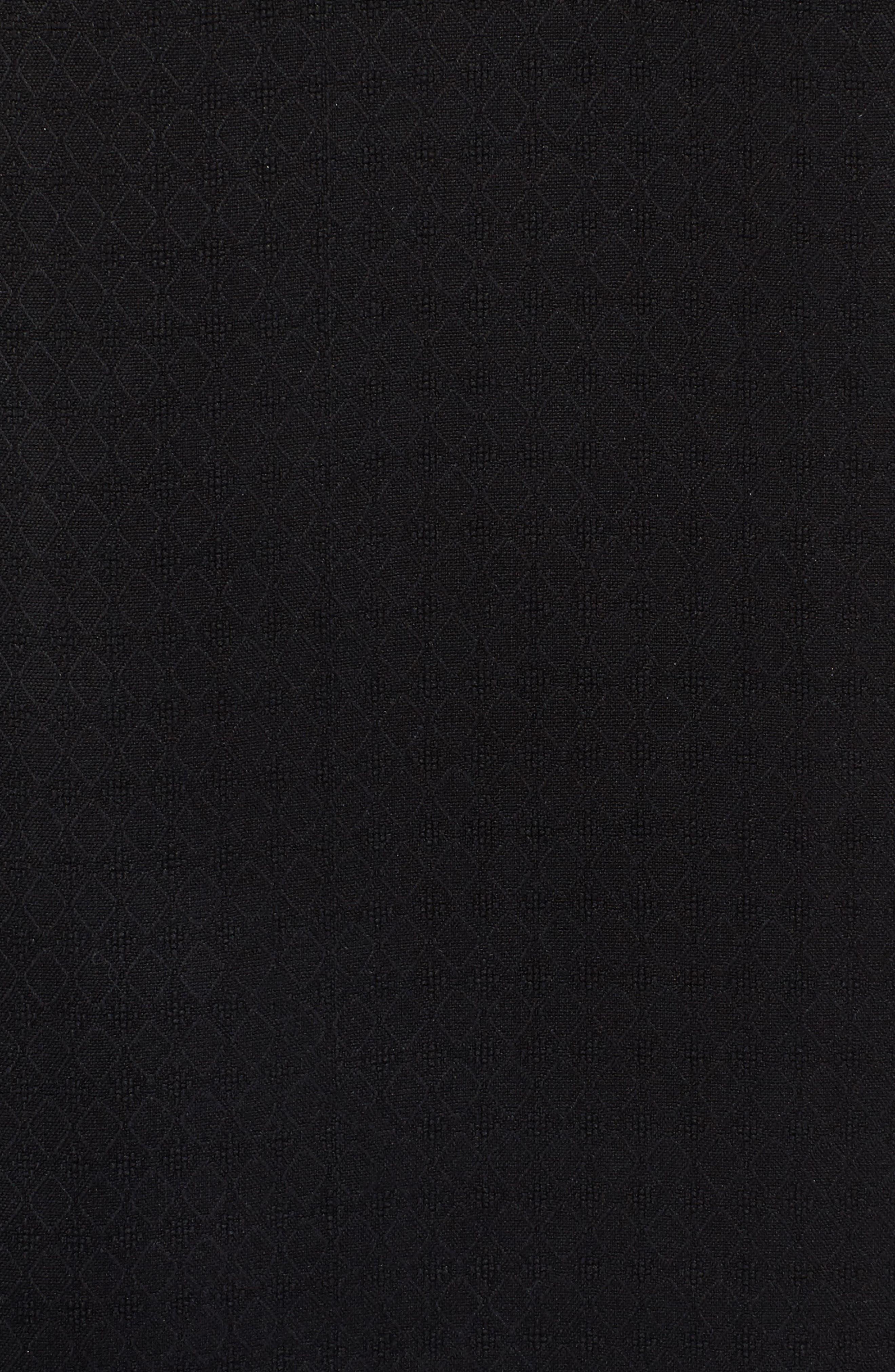 Oasis Jacquard Silk Sport Shirt,                             Alternate thumbnail 5, color,                             001
