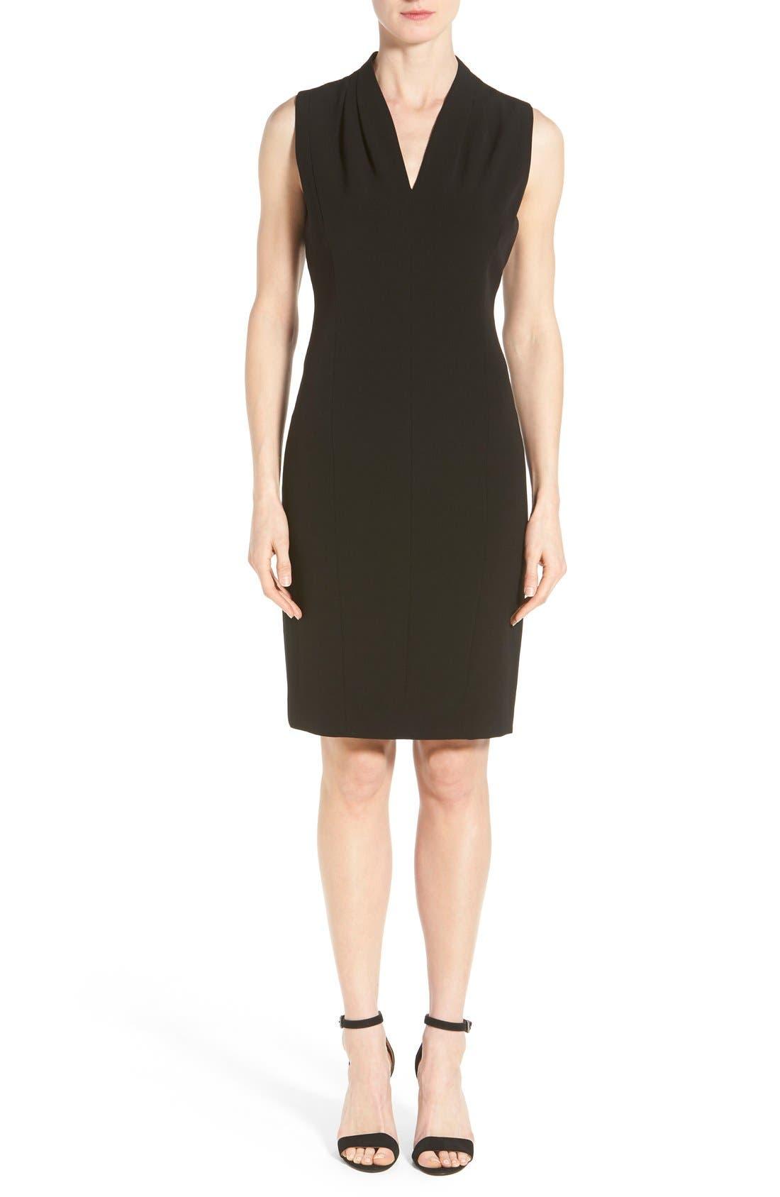 'Tonya' V-Neck Sheath Dress,                             Main thumbnail 1, color,