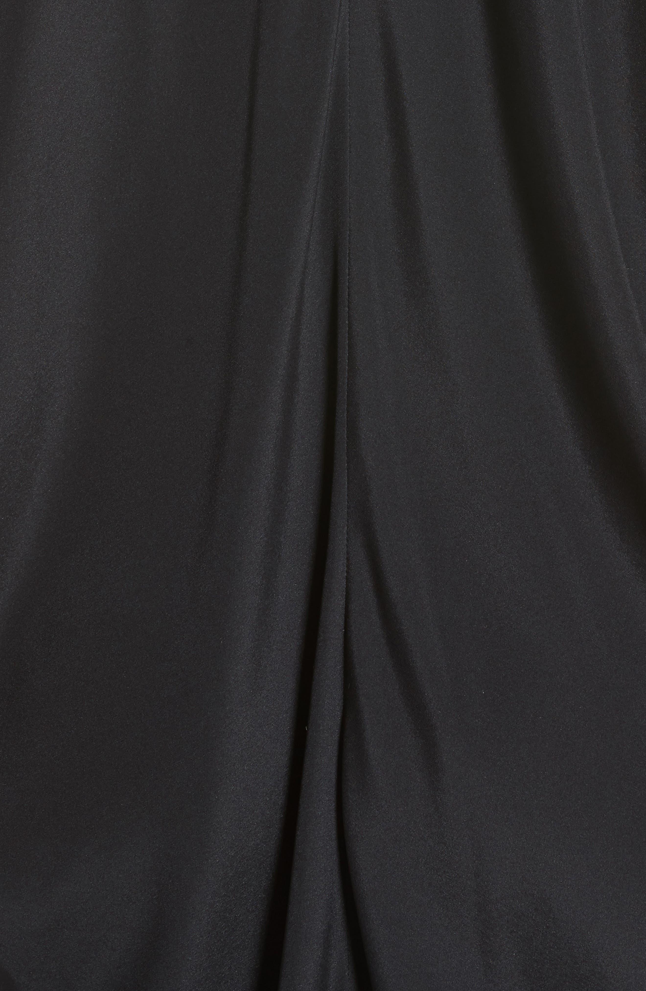Koya Stretch Silk Charmeuse Dress,                             Alternate thumbnail 5, color,                             001