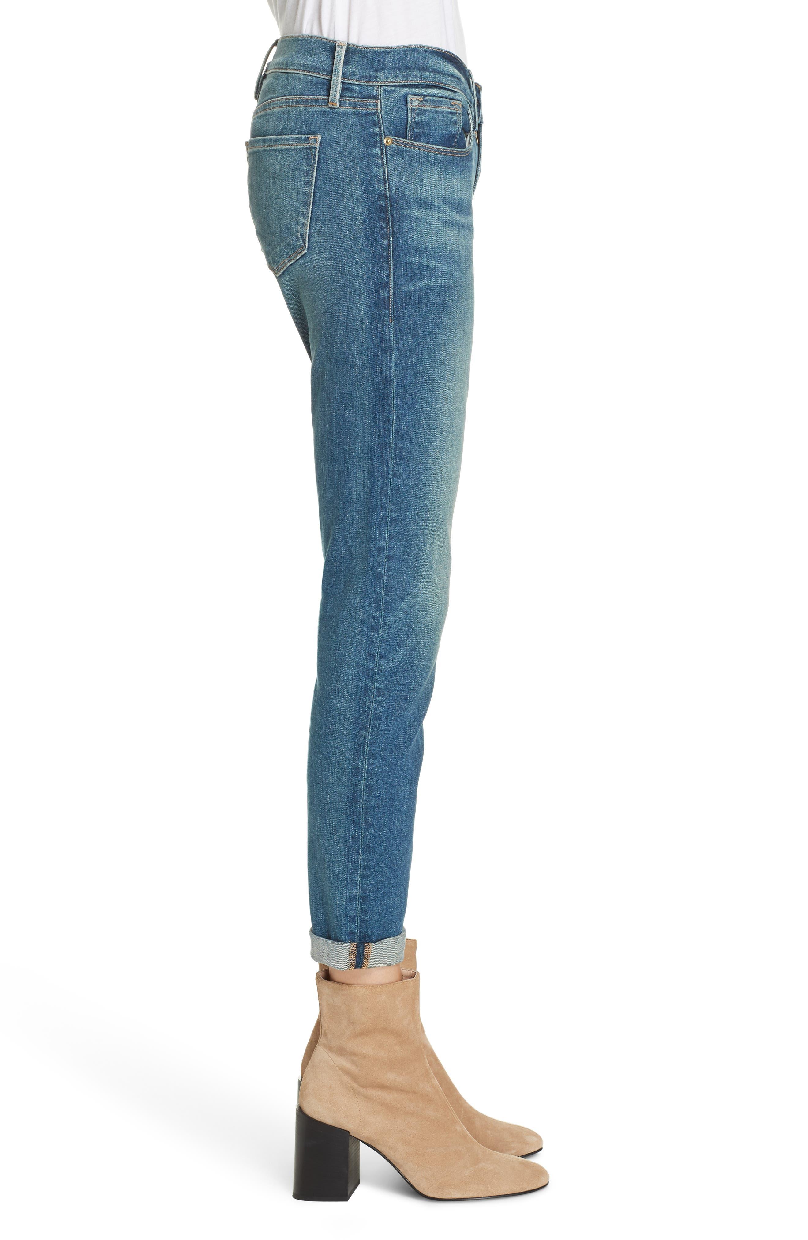Le Garcon Slim Boyfriend Jeans,                             Alternate thumbnail 3, color,                             BERKLEY SQUARE