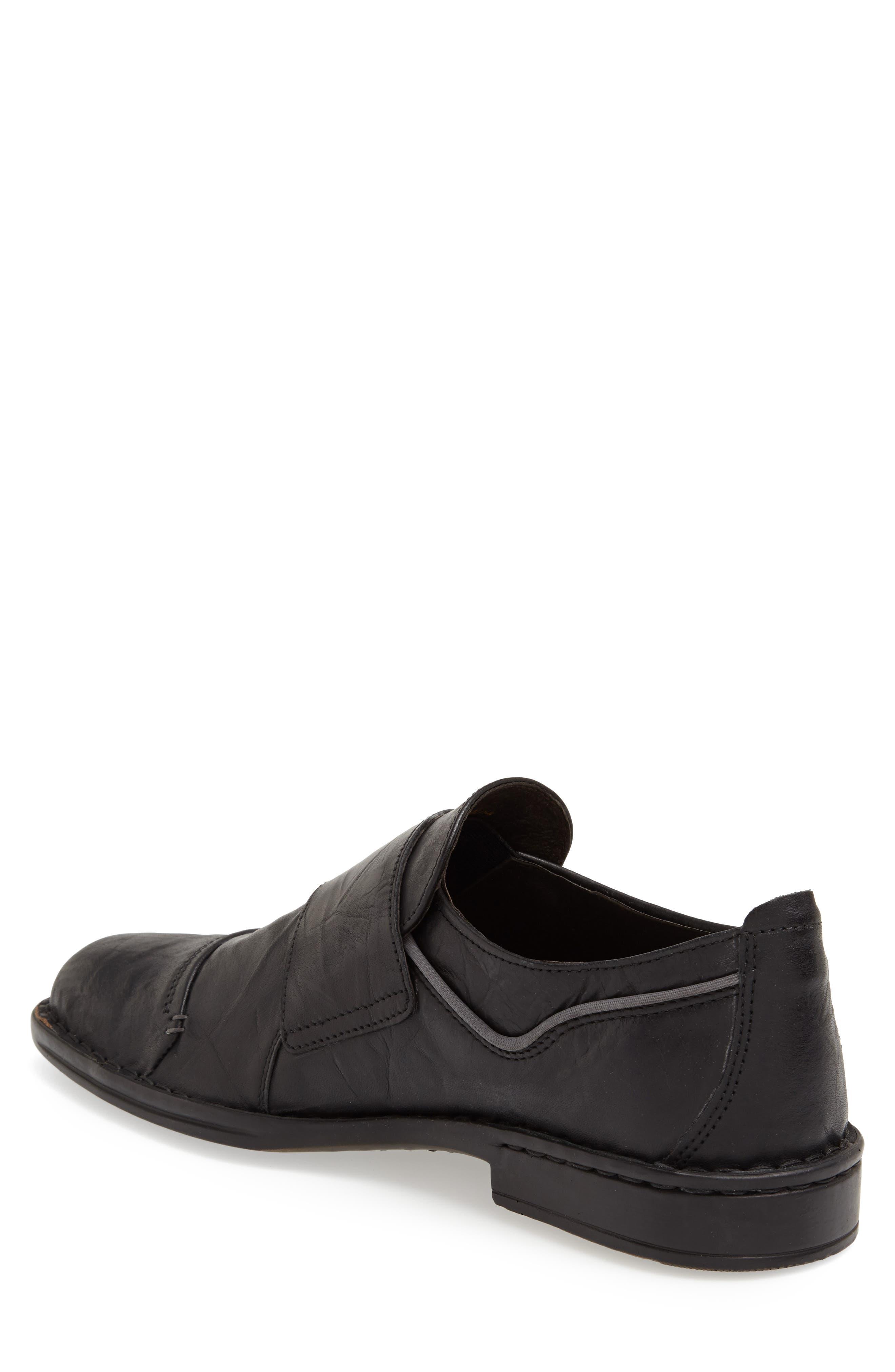 'Douglas 11' Double Monk Strap Shoe,                             Alternate thumbnail 3, color,                             BLACK