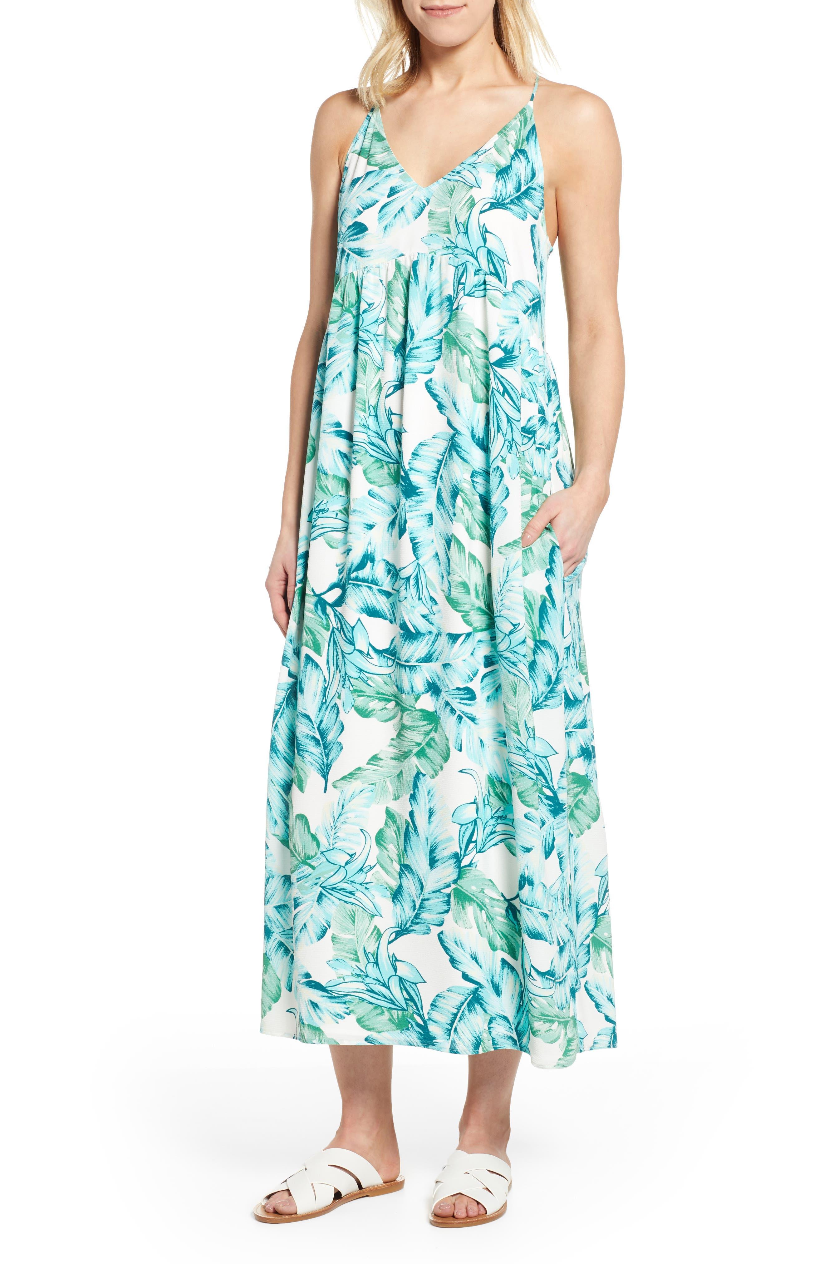 women's gibson x hi sugarplum! palm springs festival maxi dress, size small - green