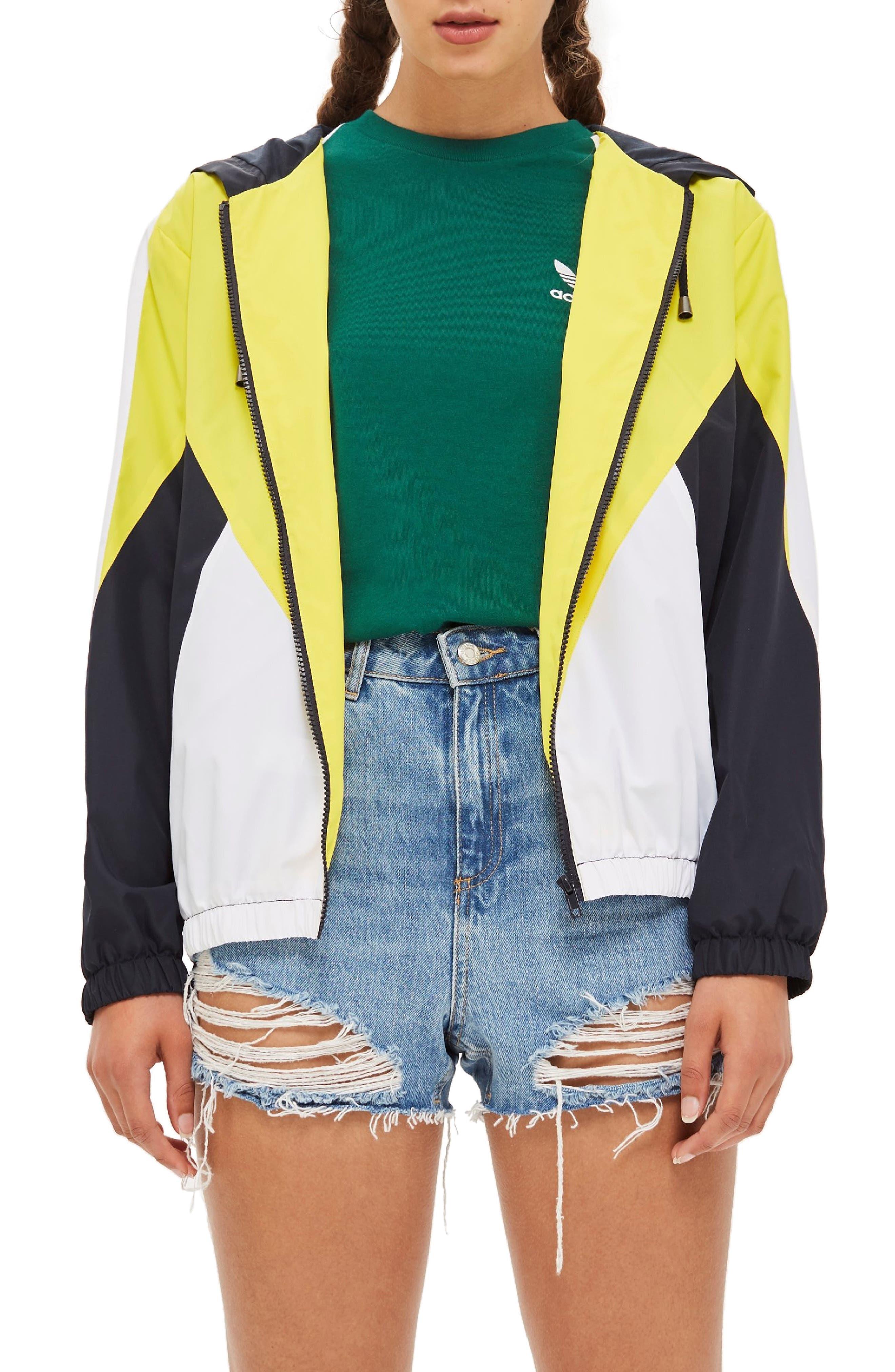 Texas Colorblock Windbreaker Jacket,                             Main thumbnail 1, color,                             YELLOW MULTI