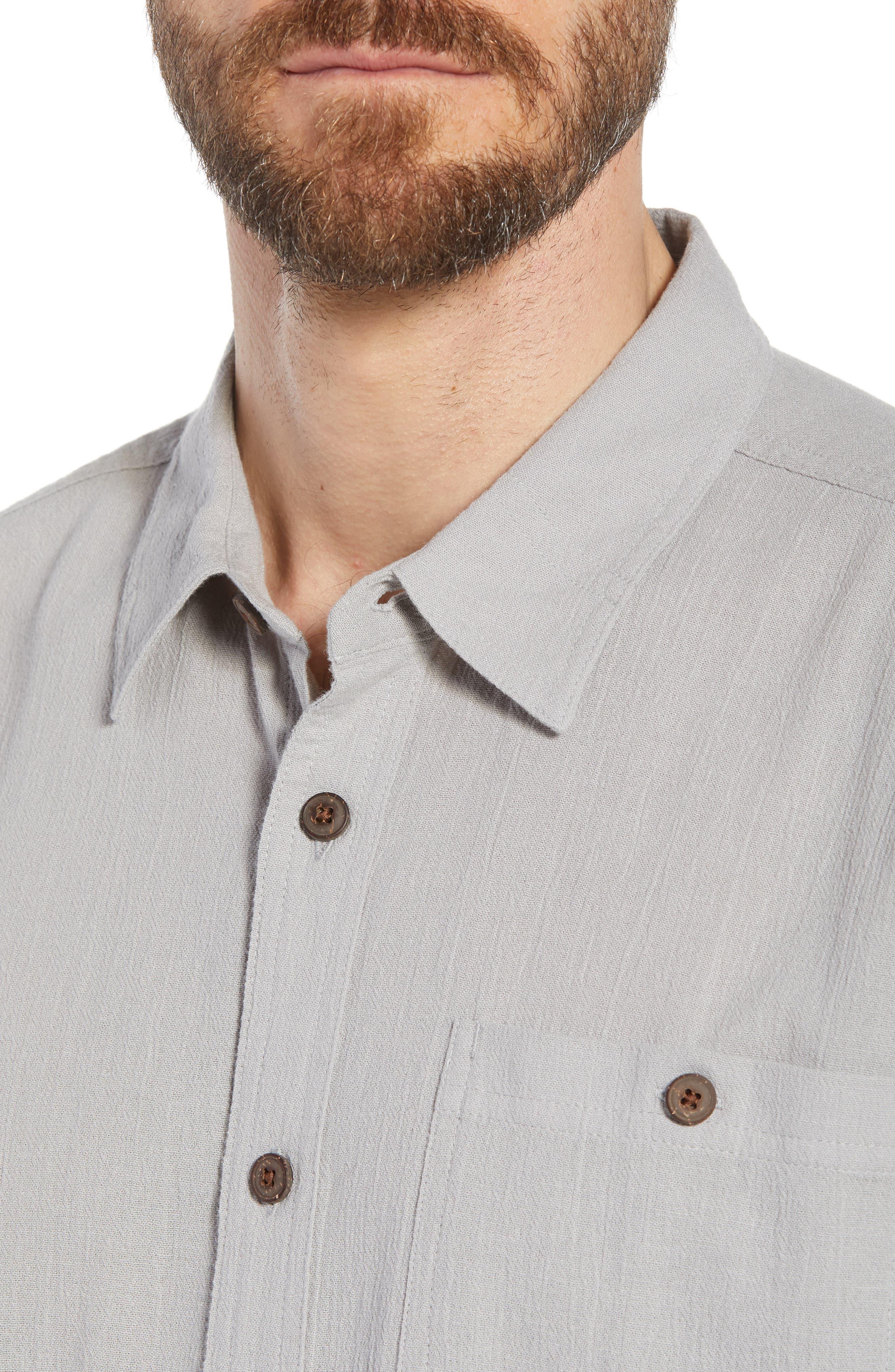 'A/C<sup>®</sup>' Regular Fit Organic Cotton Short Sleeve Sport Shirt,                             Alternate thumbnail 4, color,                             022