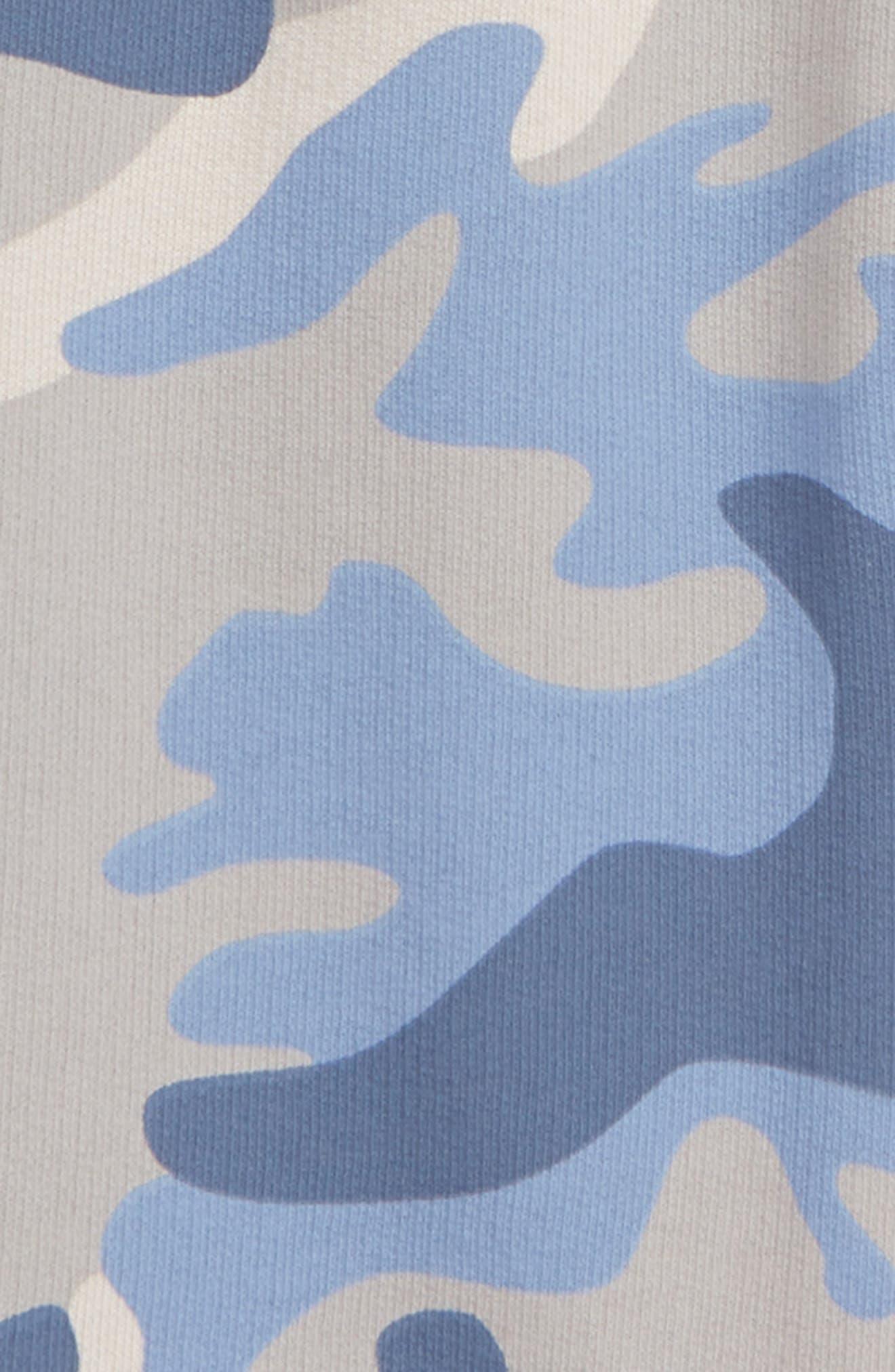 Peek Camo Print Knit Joggers,                             Alternate thumbnail 2, color,                             BLUE