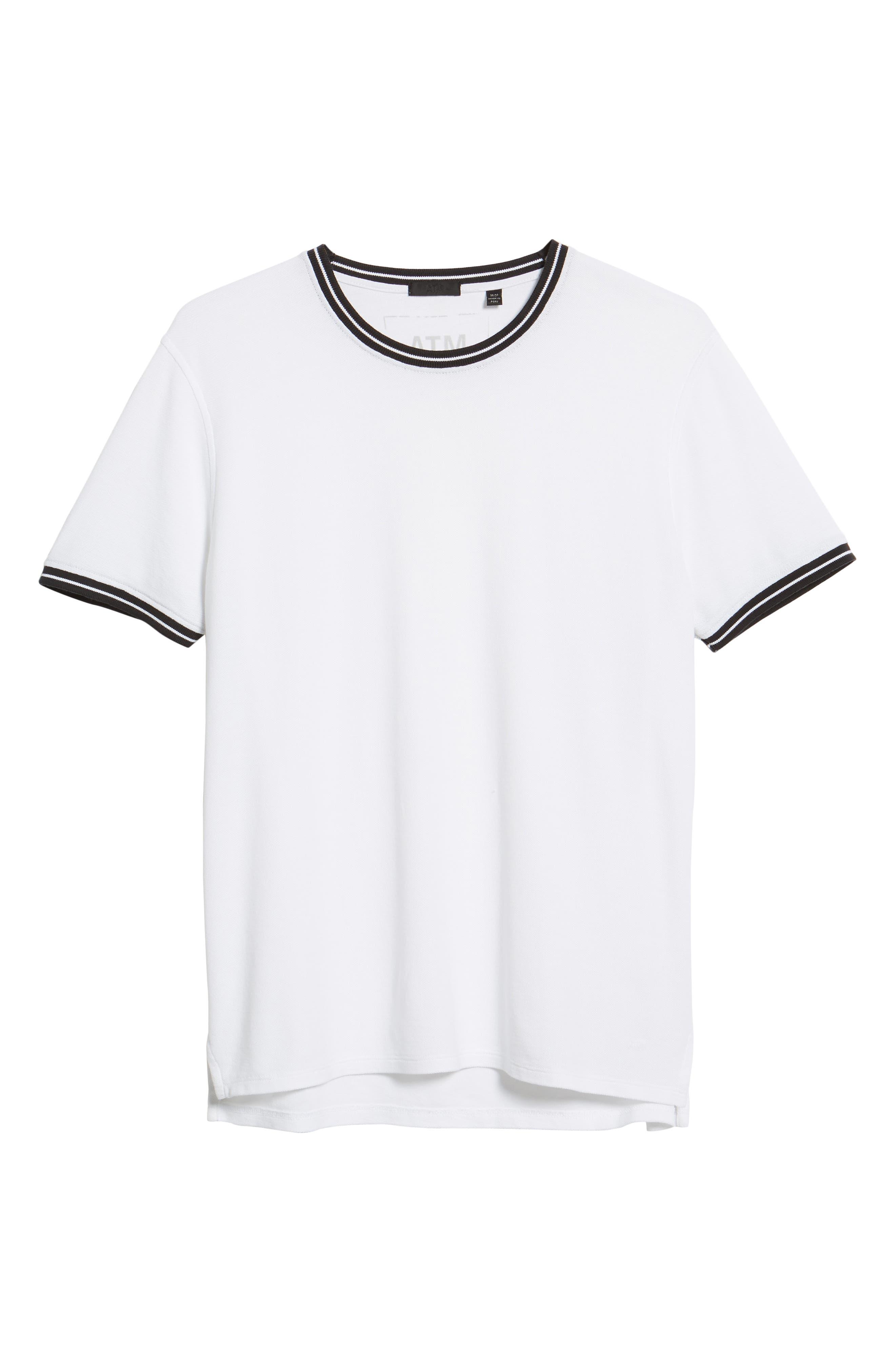 Pique Crewneck T-shirt,                             Alternate thumbnail 6, color,