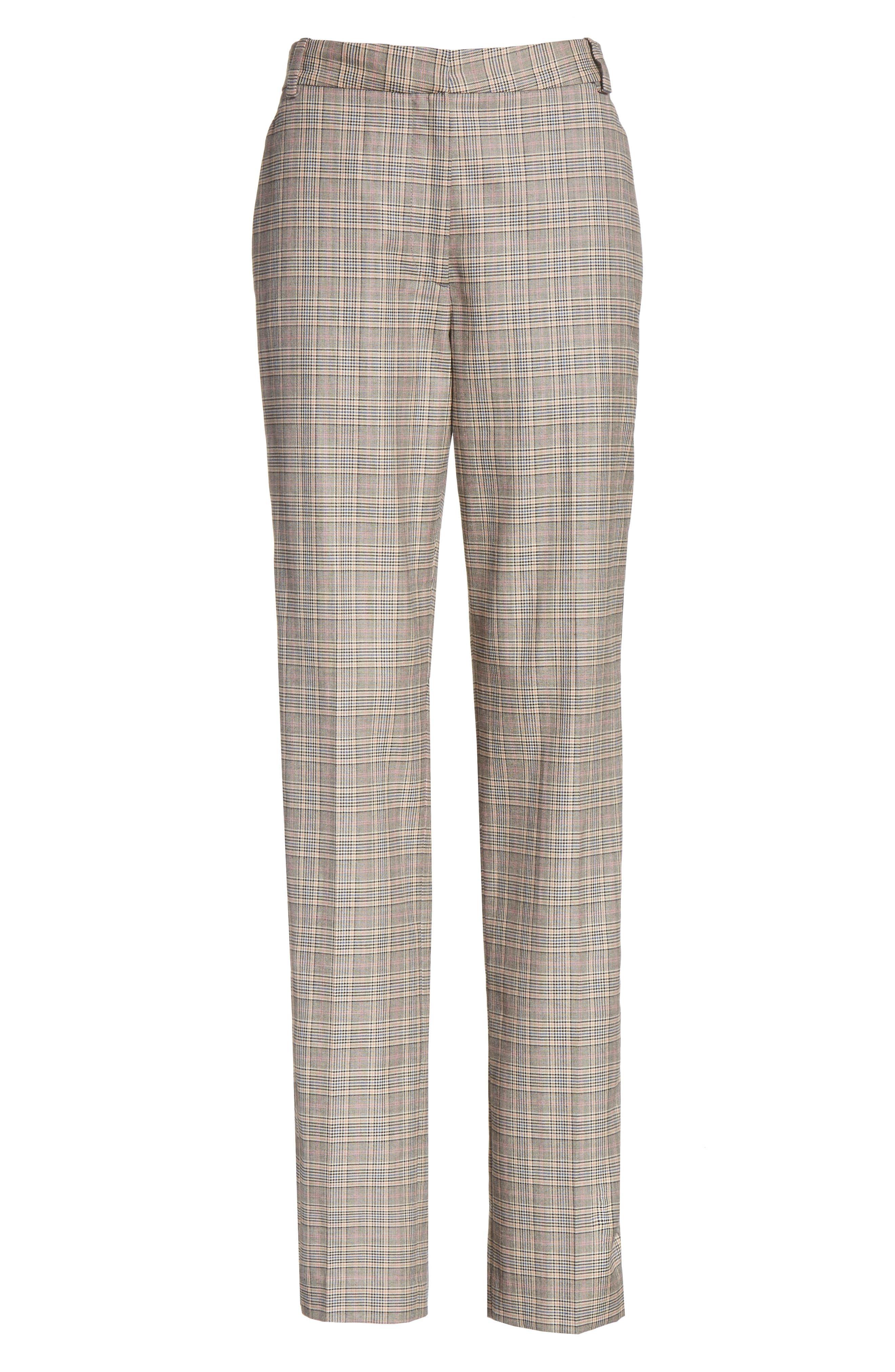 Oman Side Stripe Wool Blend Pants,                             Alternate thumbnail 6, color,                             017