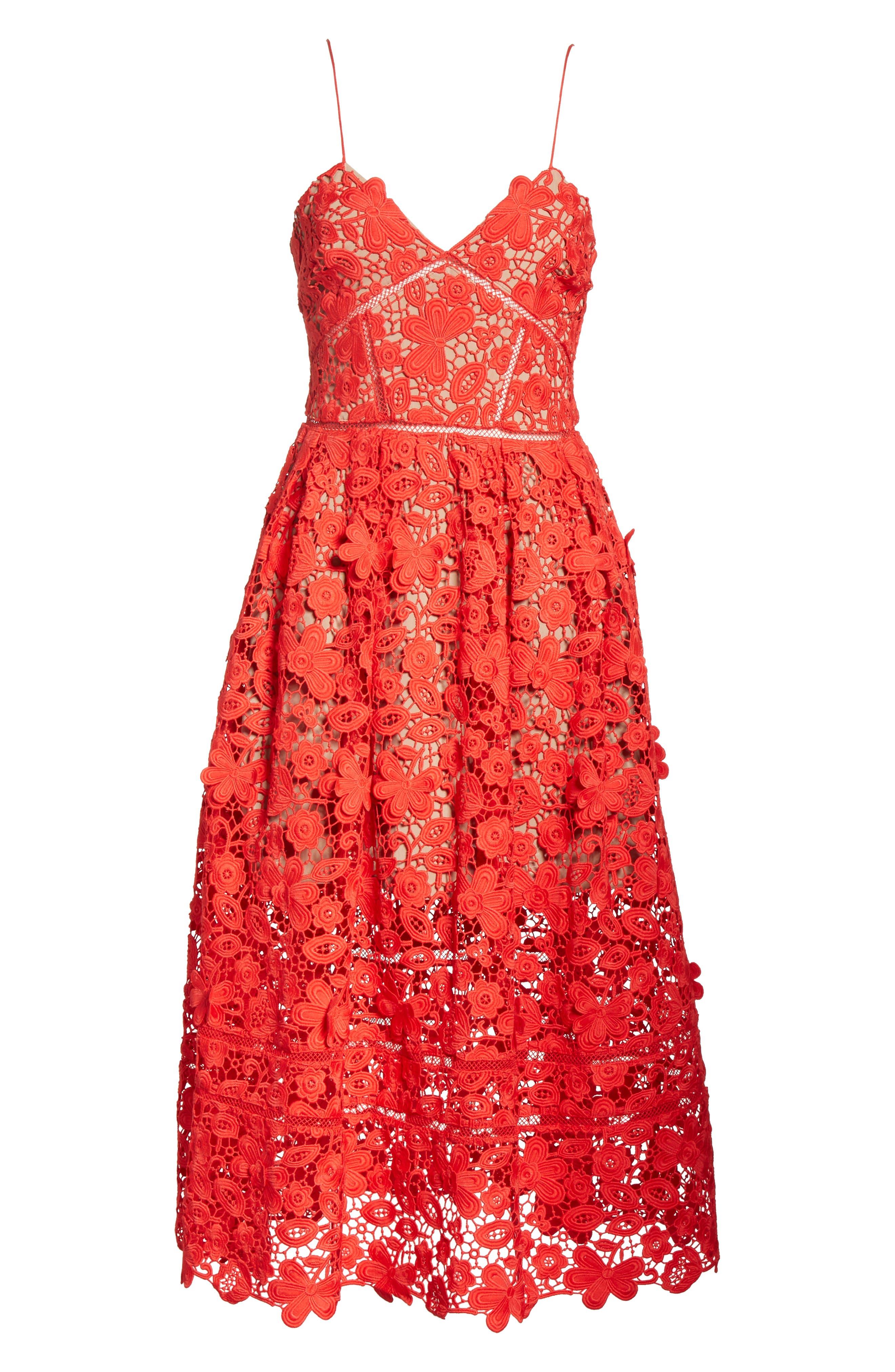 Azaelea 3D Lace Fit & Flare Dress,                             Alternate thumbnail 18, color,