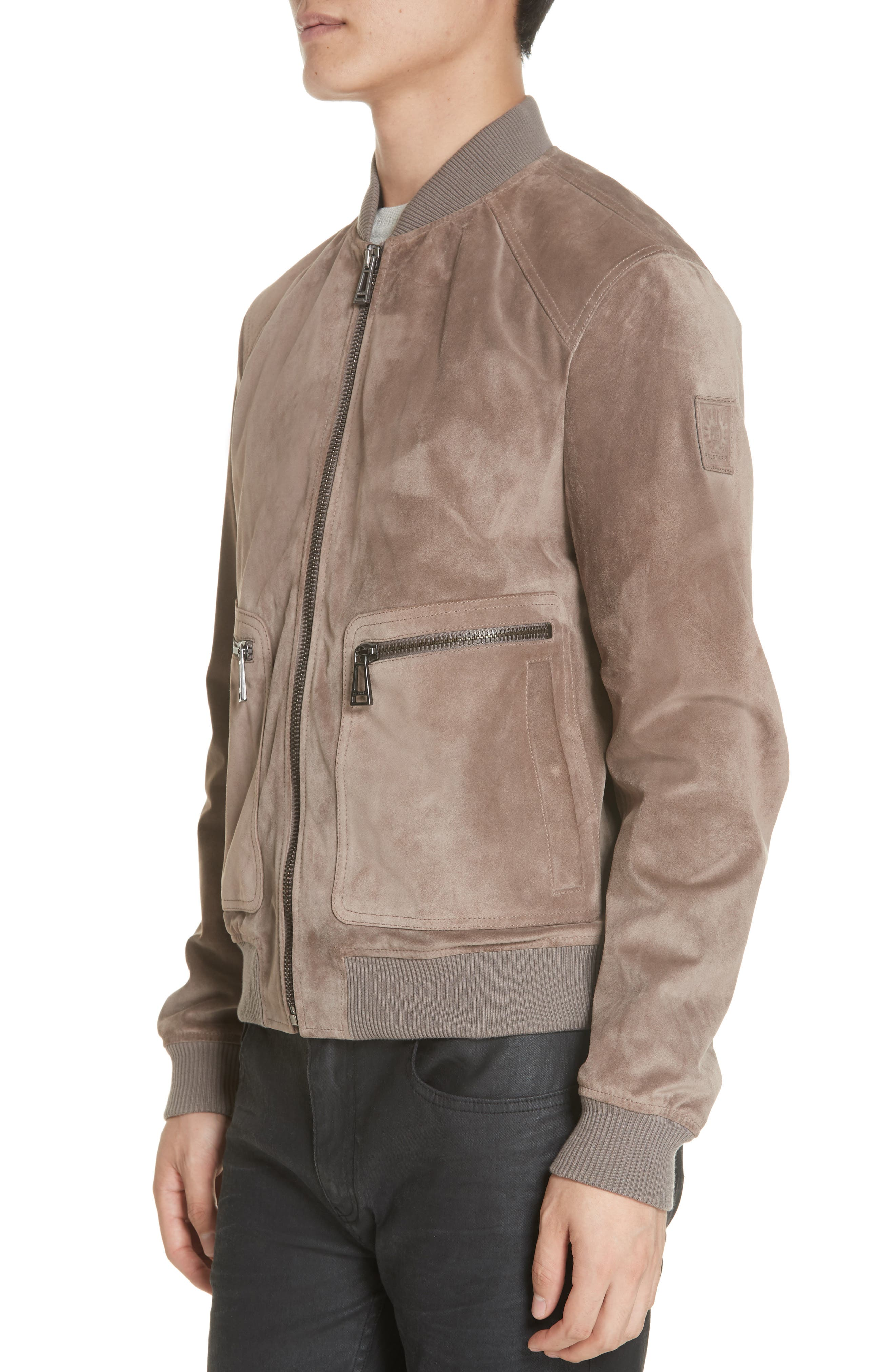 Winswell Suede Jacket,                             Alternate thumbnail 4, color,                             DRIFTWOOD