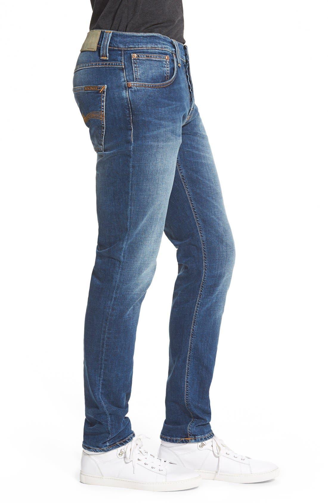 NUDIE JEANS,                             'Grim Tim' Slim Fit Stretch Organic Cotton Jeans,                             Alternate thumbnail 2, color,                             462