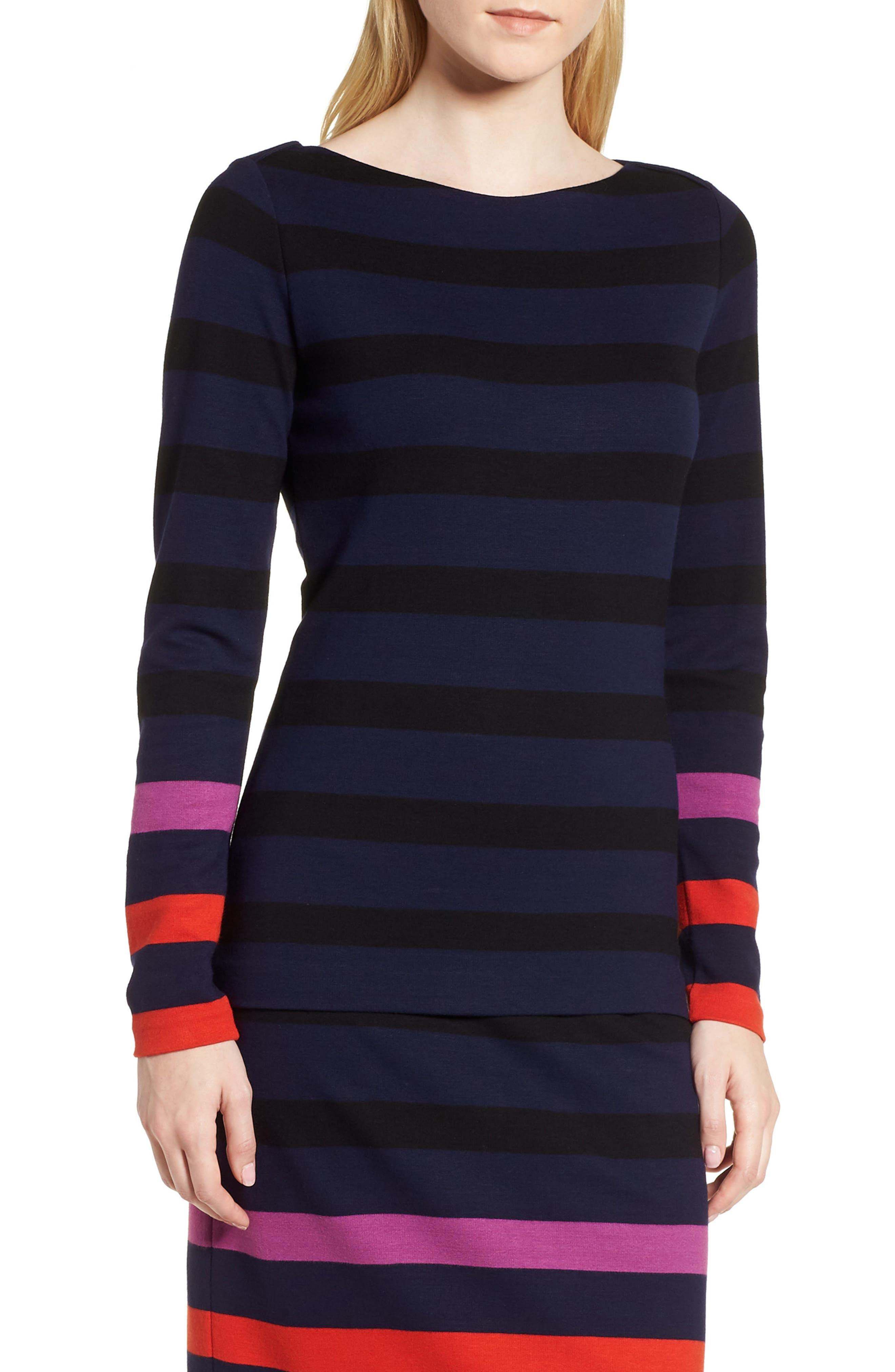 BOSS Elive Stripe Top, Main, color, 462