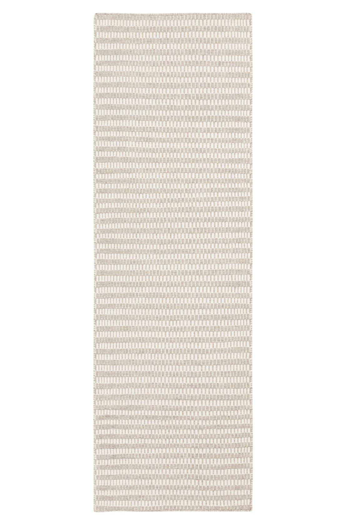 'Ravena' Wool Rug,                             Alternate thumbnail 3, color,                             GREY/ IVORY