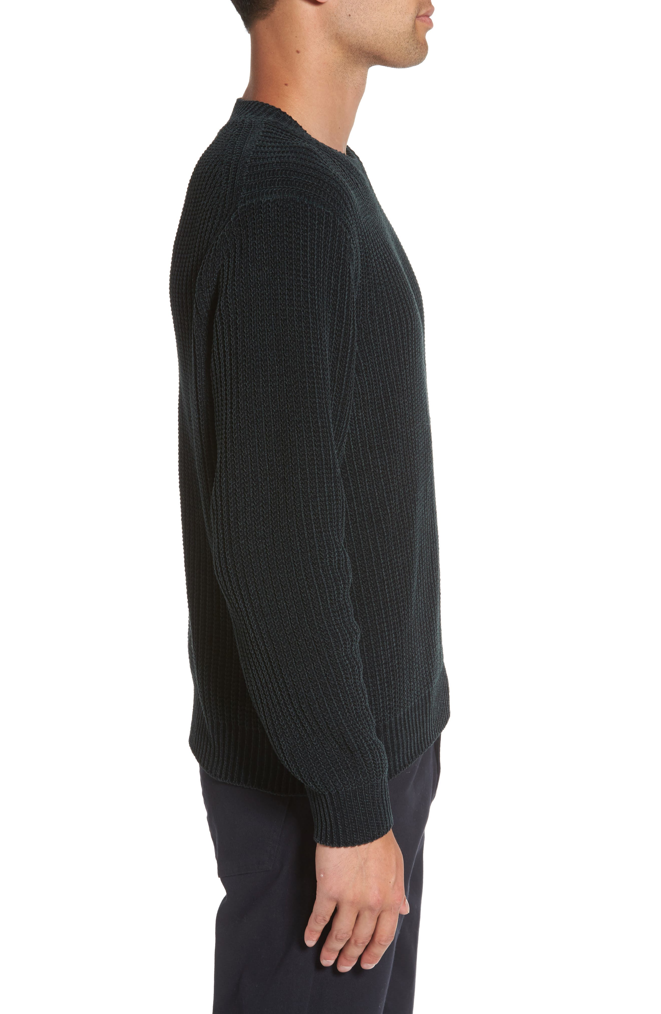 Ribbed Crewneck Sweater,                             Alternate thumbnail 3, color,                             357