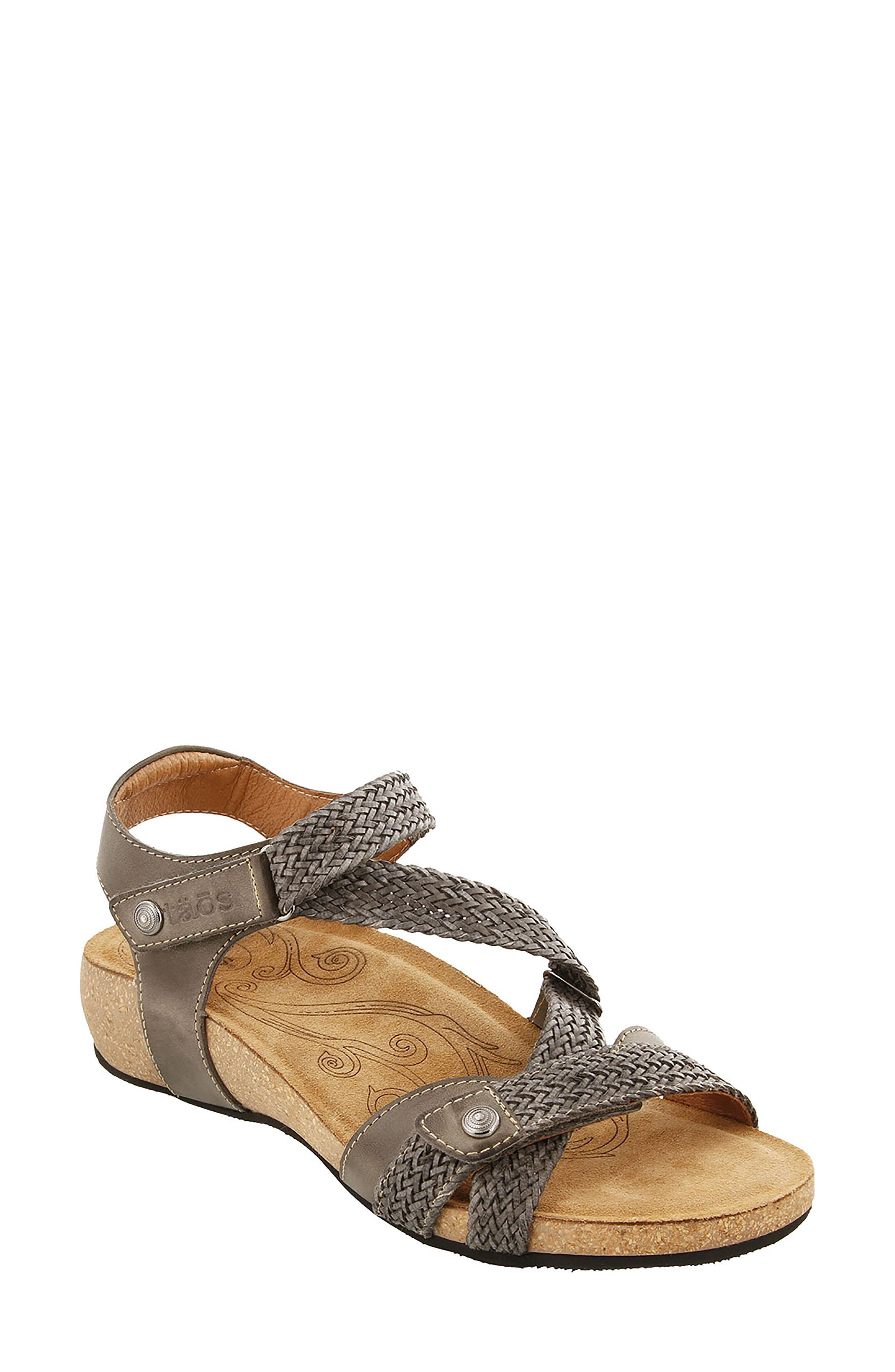 TAOS 'Trulie' Wedge Sandal, Main, color, 022