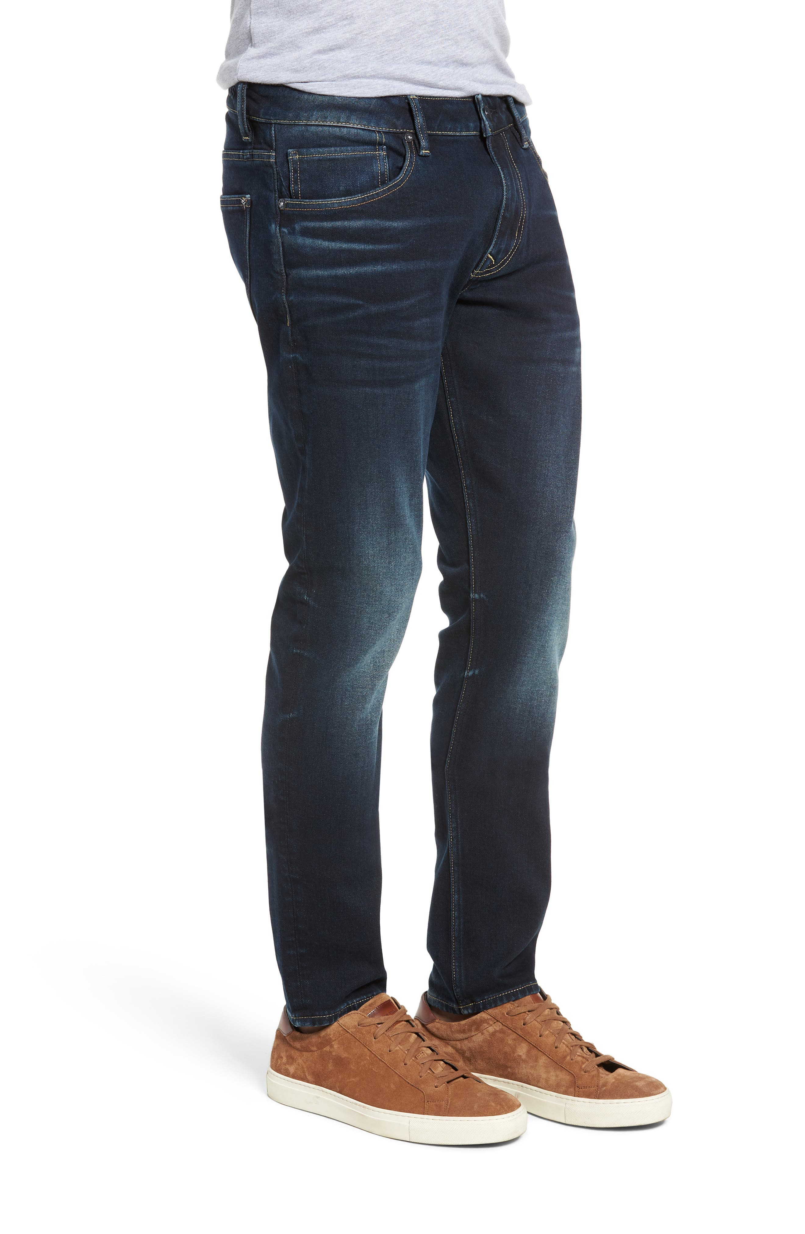 Jude Slim Fit Jeans,                             Alternate thumbnail 3, color,                             DARK 3D WASH